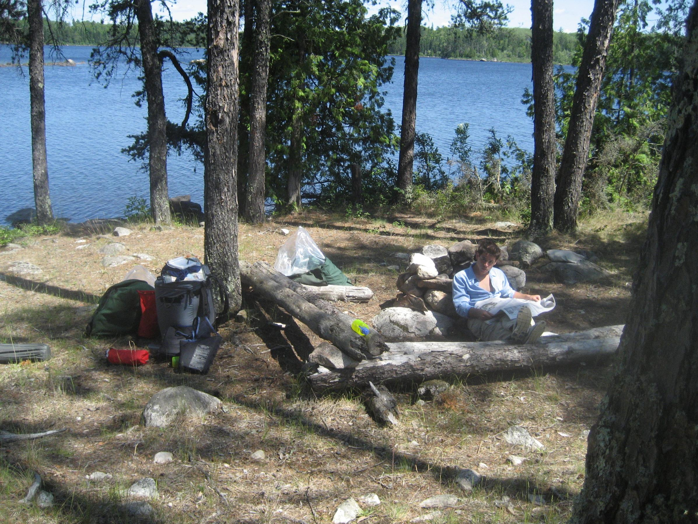 Basswood Falls camp