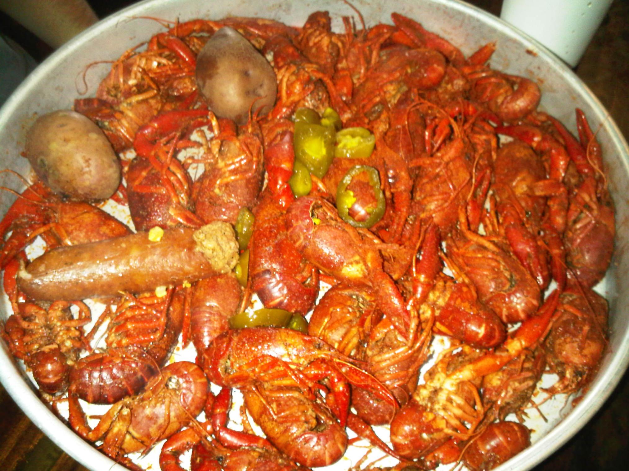 That Way They Can Suck Up All Those Spices, Peppers And Crawfish Boil That  Gives Em A Good, Dark Coloration Like This