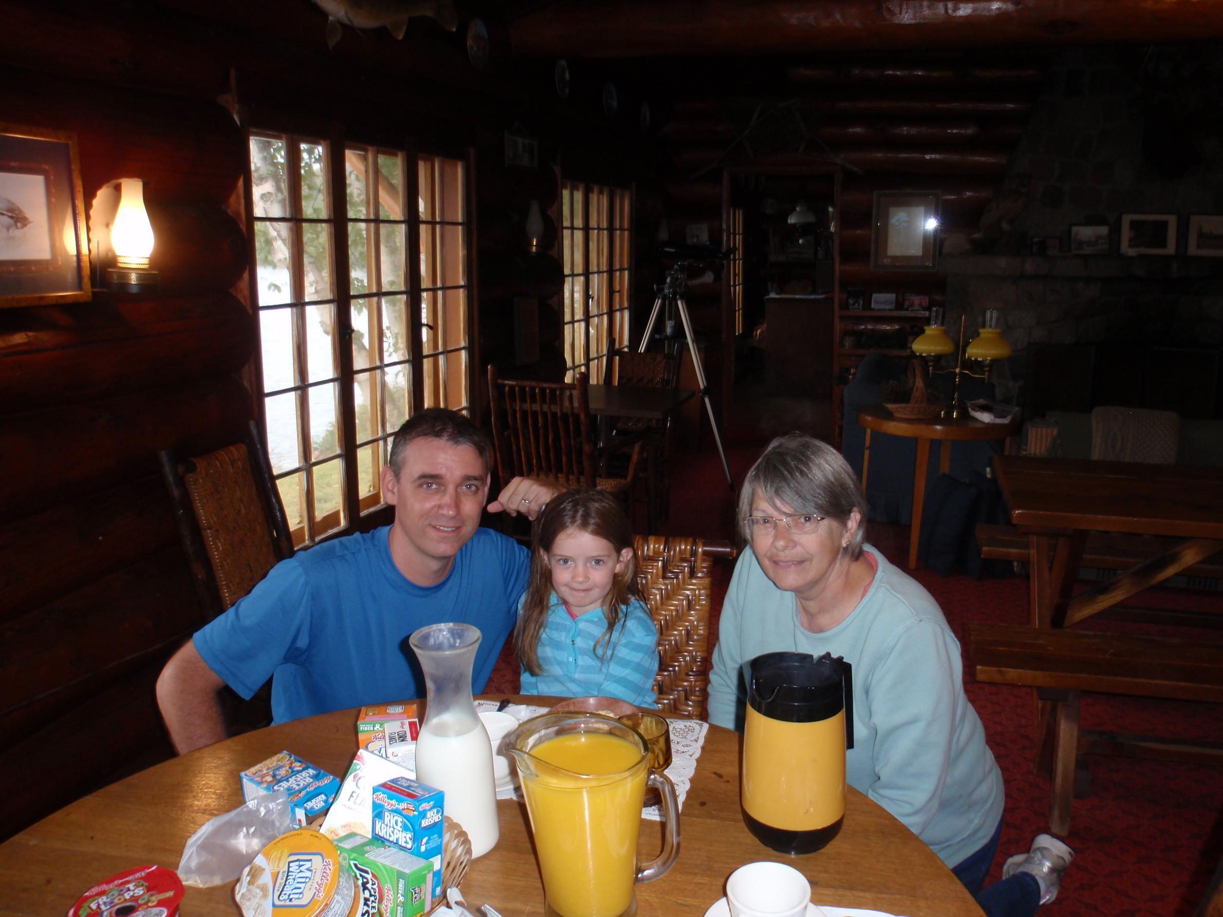 Lynn having some breakfast with us