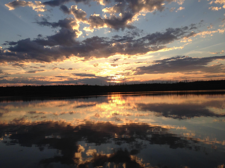Sunset at Gull Lake