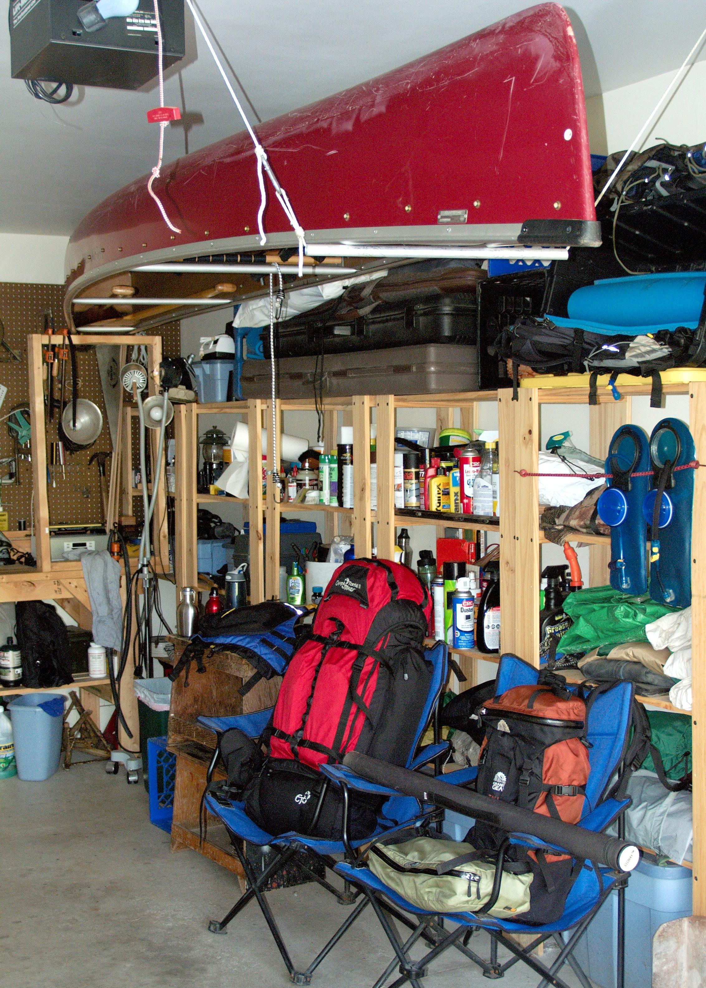 Canoe Storage Rack Garage Designs