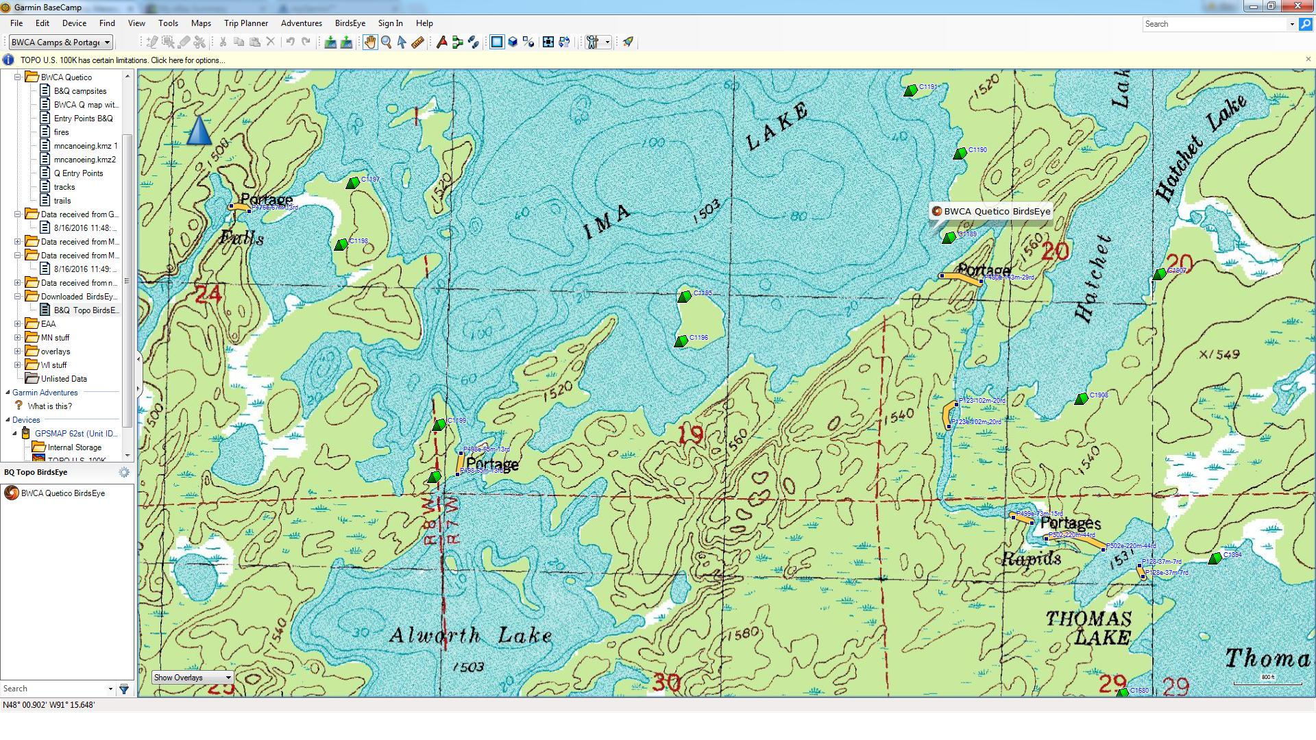 BWCA BirdsEye Topo Maps Boundary Waters Private Group Forum GPS - Usgs topographic maps online