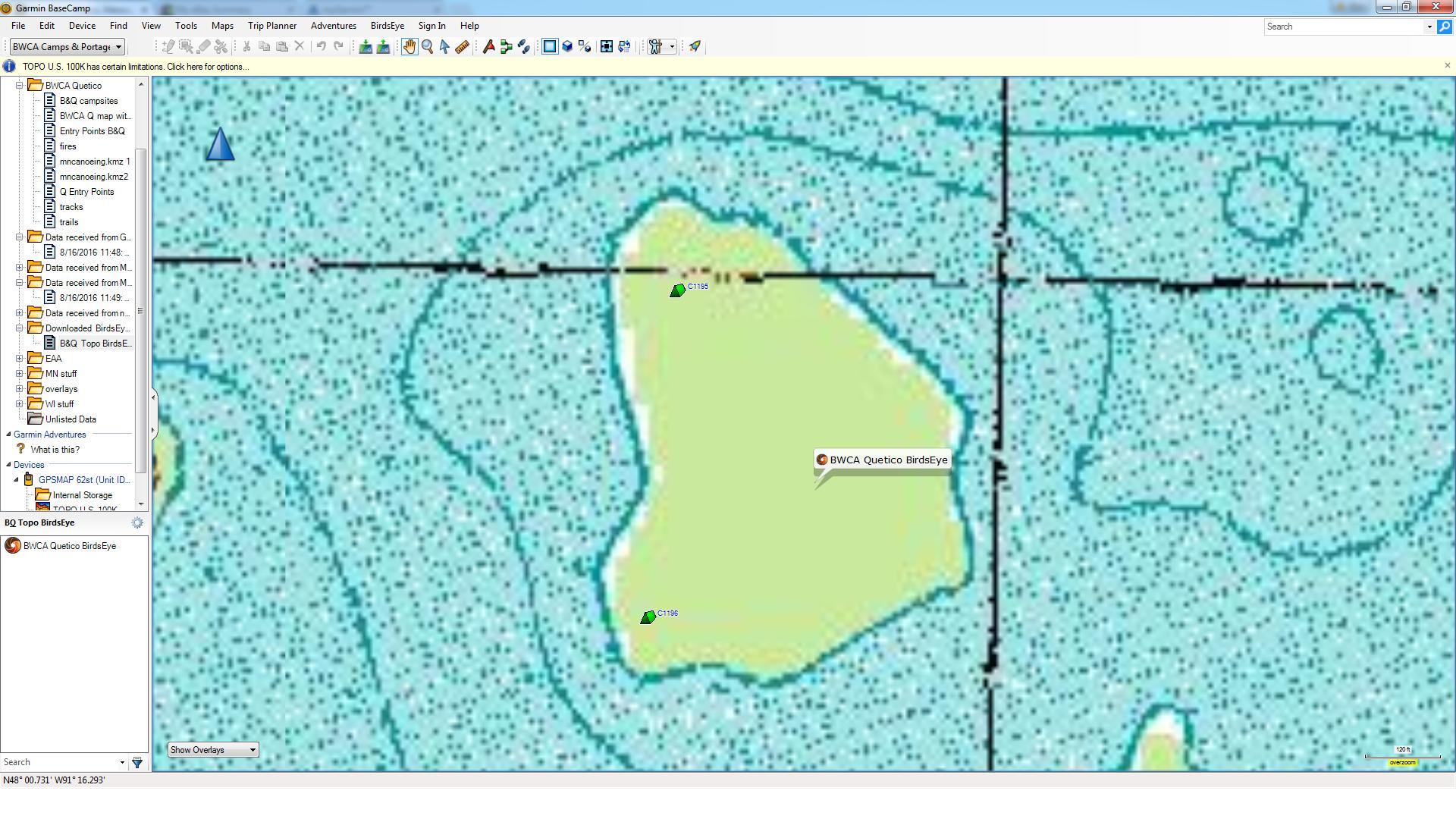 BWCA BirdsEye Topo Maps Boundary Waters Private Group Forum GPS - Us topographic map kmz