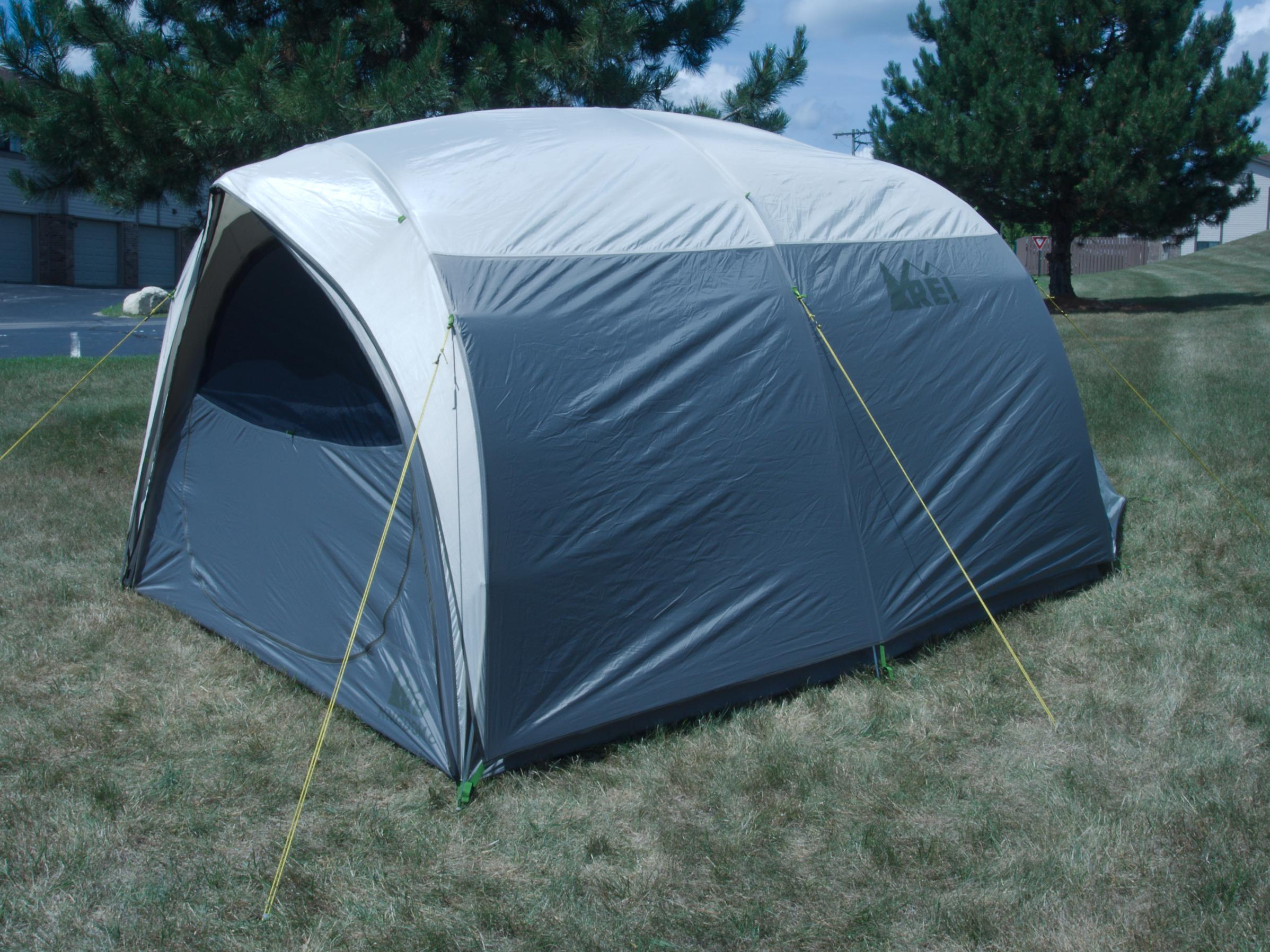 Purchased last Aug. at REI Garrage Sale (tiny burn hole inside side wall) used one time so far. A KingDome 8 is also available. & BWCA Car camping tent... rei kingdom what ya think? Boundary ...