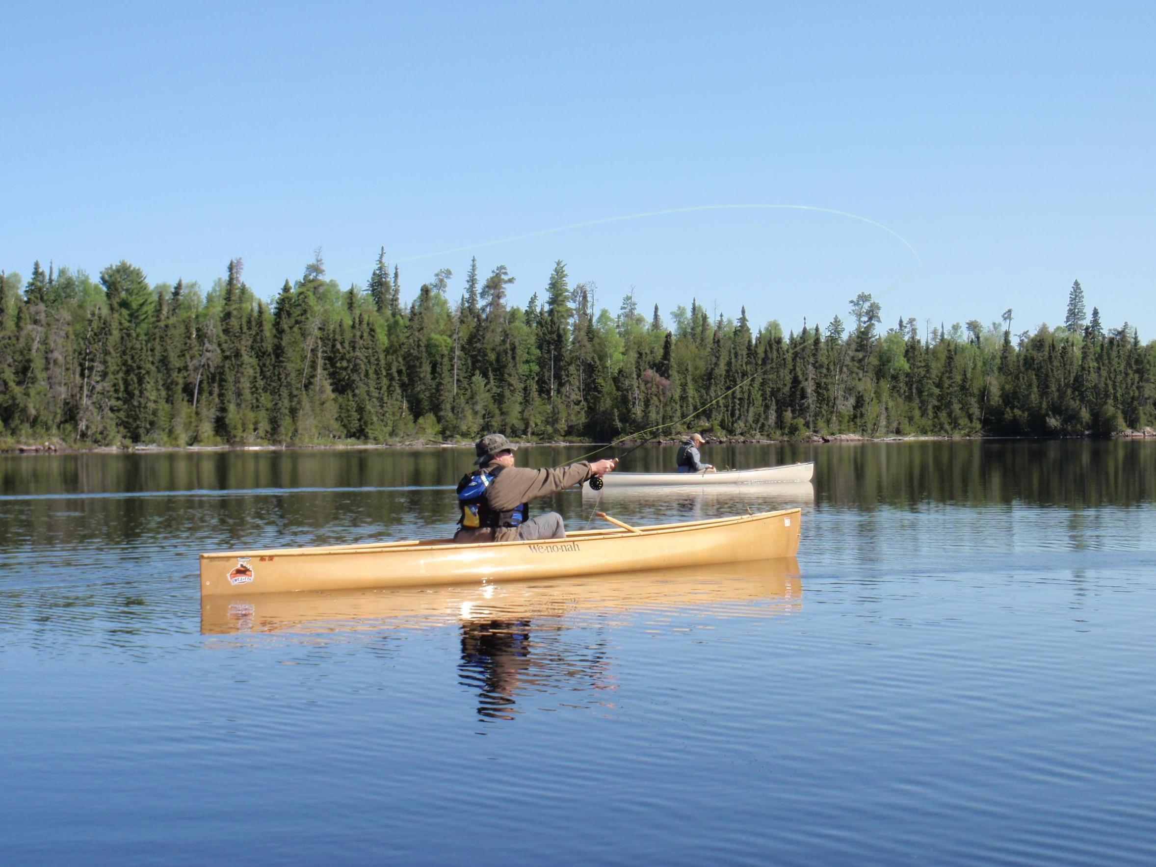 Bwca good solo tripper fishing canoe boundary waters gear for Solo fishing canoe