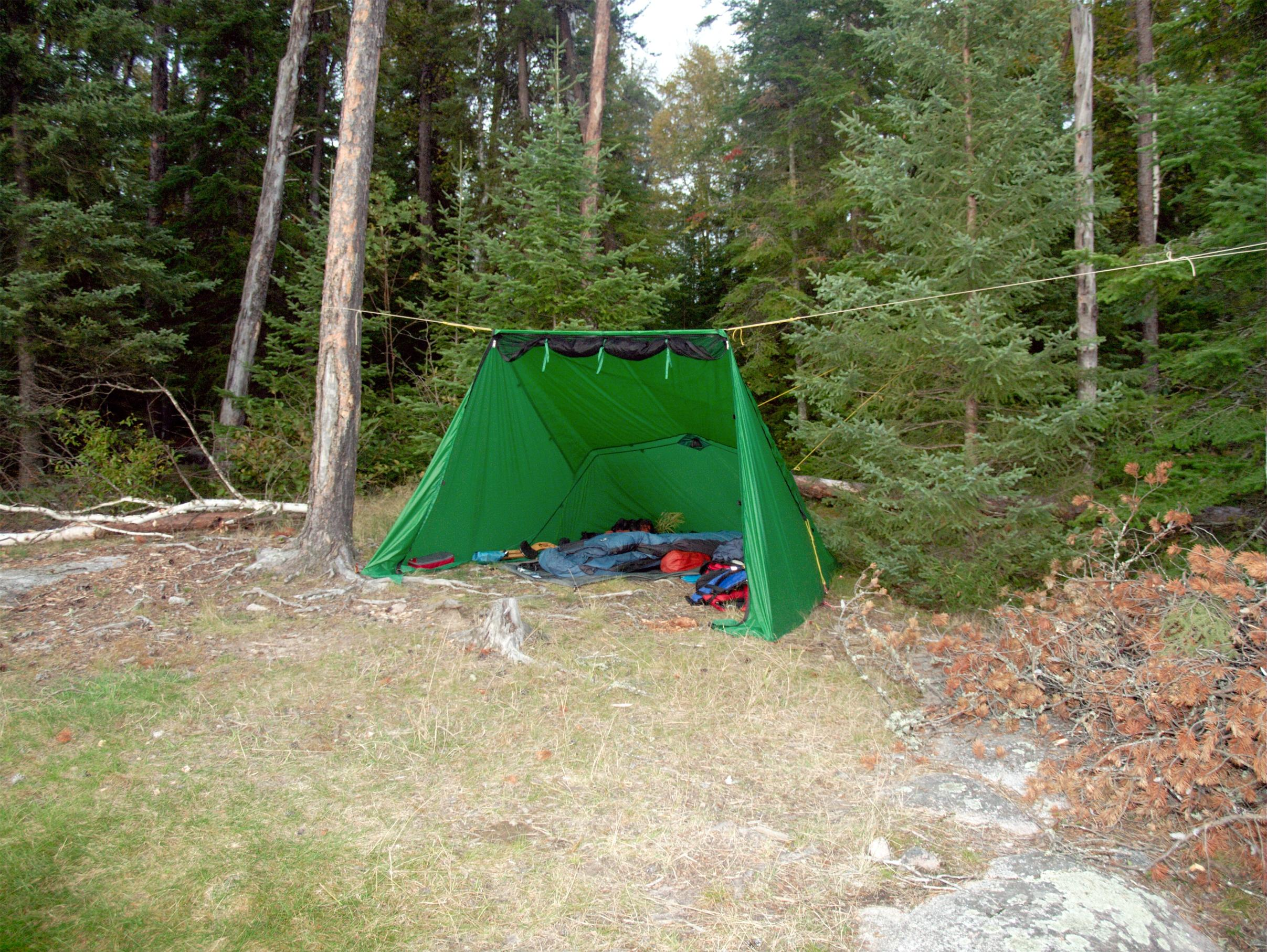 Lean1+ set up fast as a tarp cooked lunch and assembled c& gear in the rain. Then pulled in and down for sleeping after I decided to stay. & BWCA Pitching Tent in the Rain Boundary Waters Gear Forum