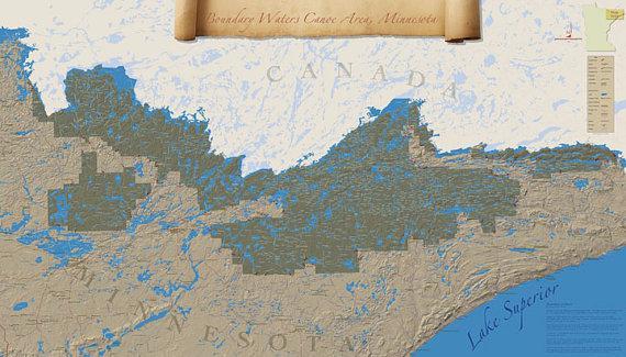 BWCA wall map