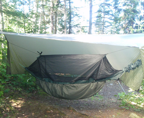 camp on knife lake during trip on border route last week  dd frontline hammock with dd under blanket and warbon  superfly bwca who u0027s hanging  boundary waters private group forum  bwca hanging  rh   bwca