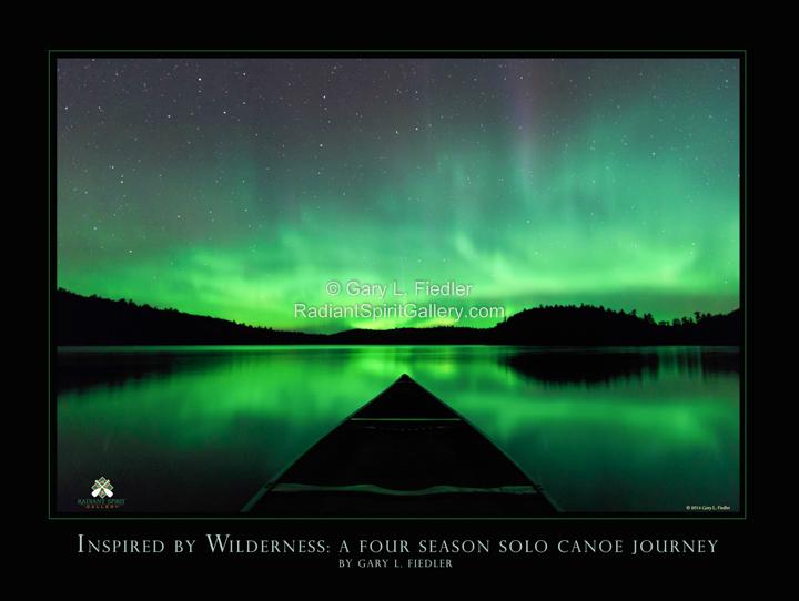 Canoeing under the Aurora