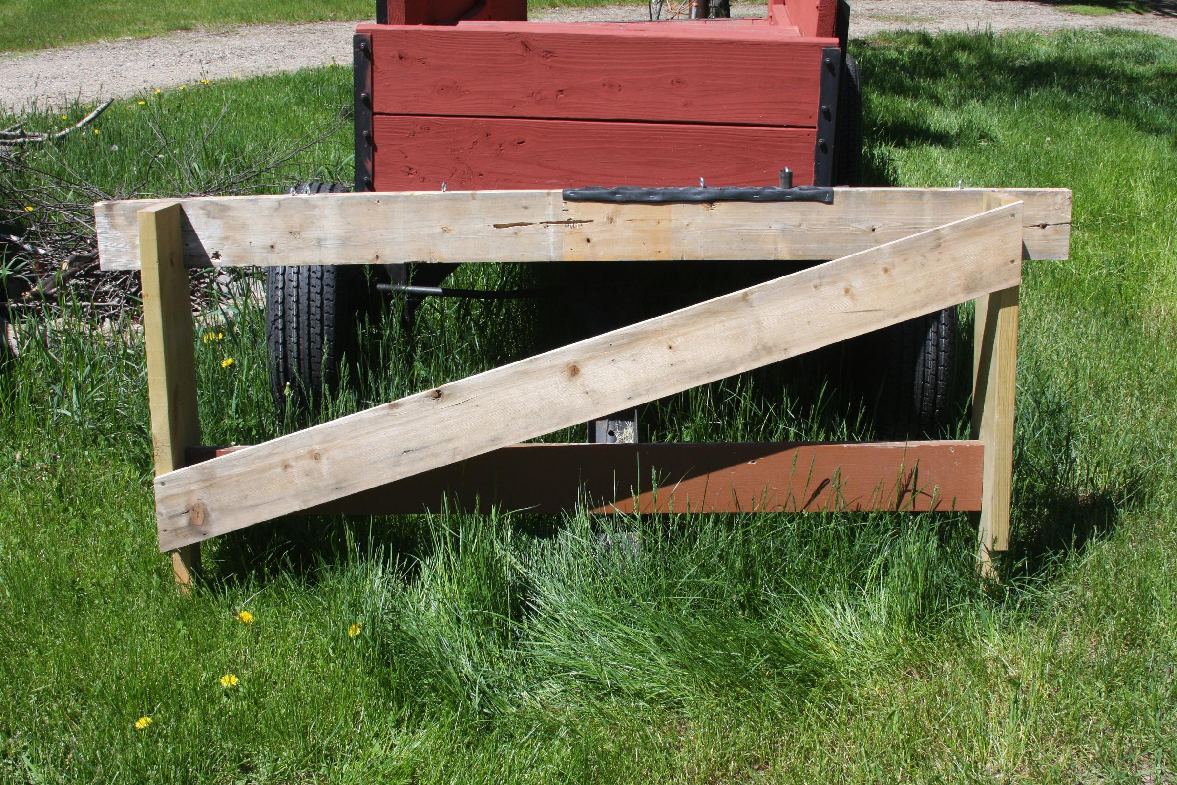 DIY canoe rack
