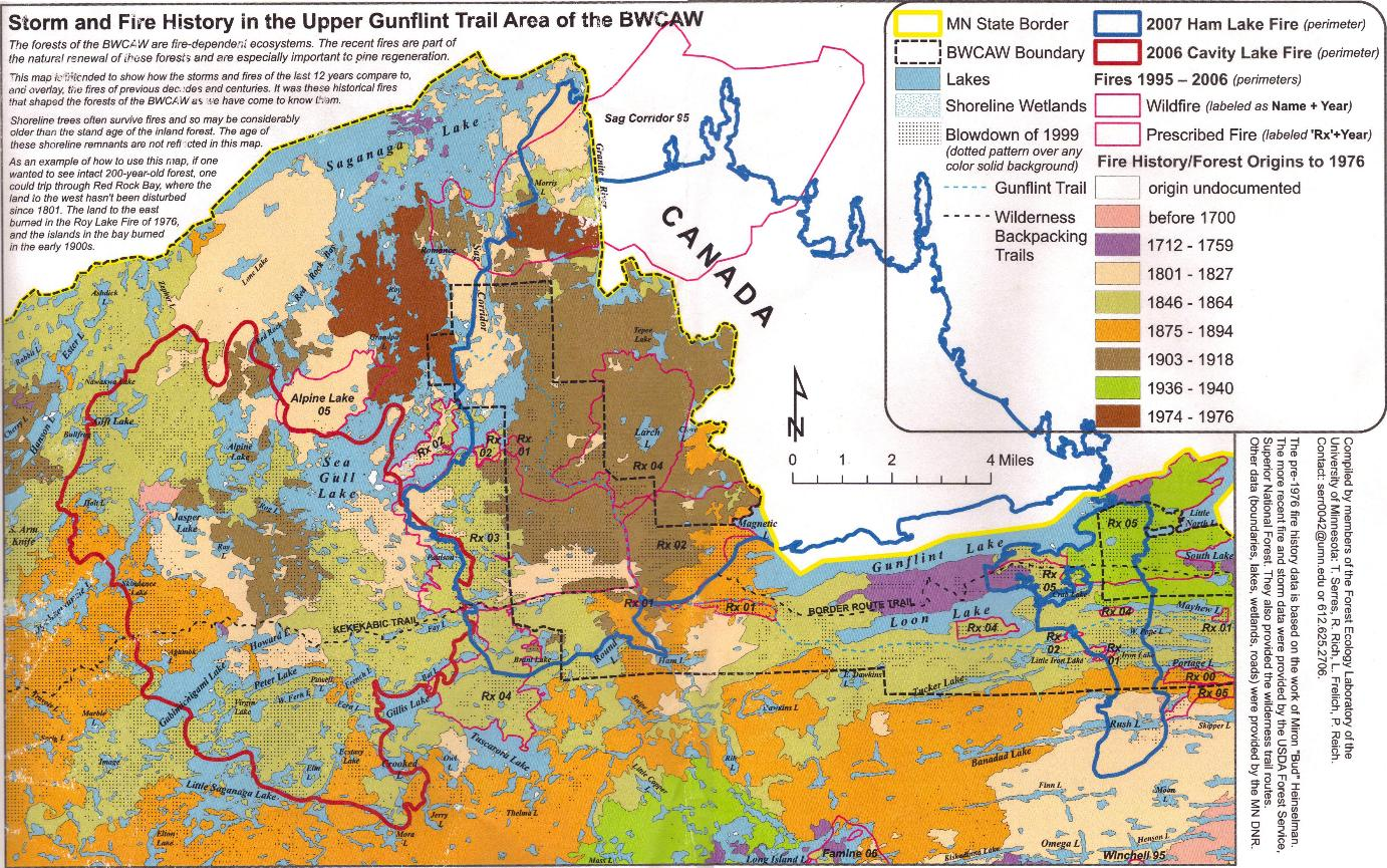 Bwca Fire Map Boundary Waters Listening Point General Discussion