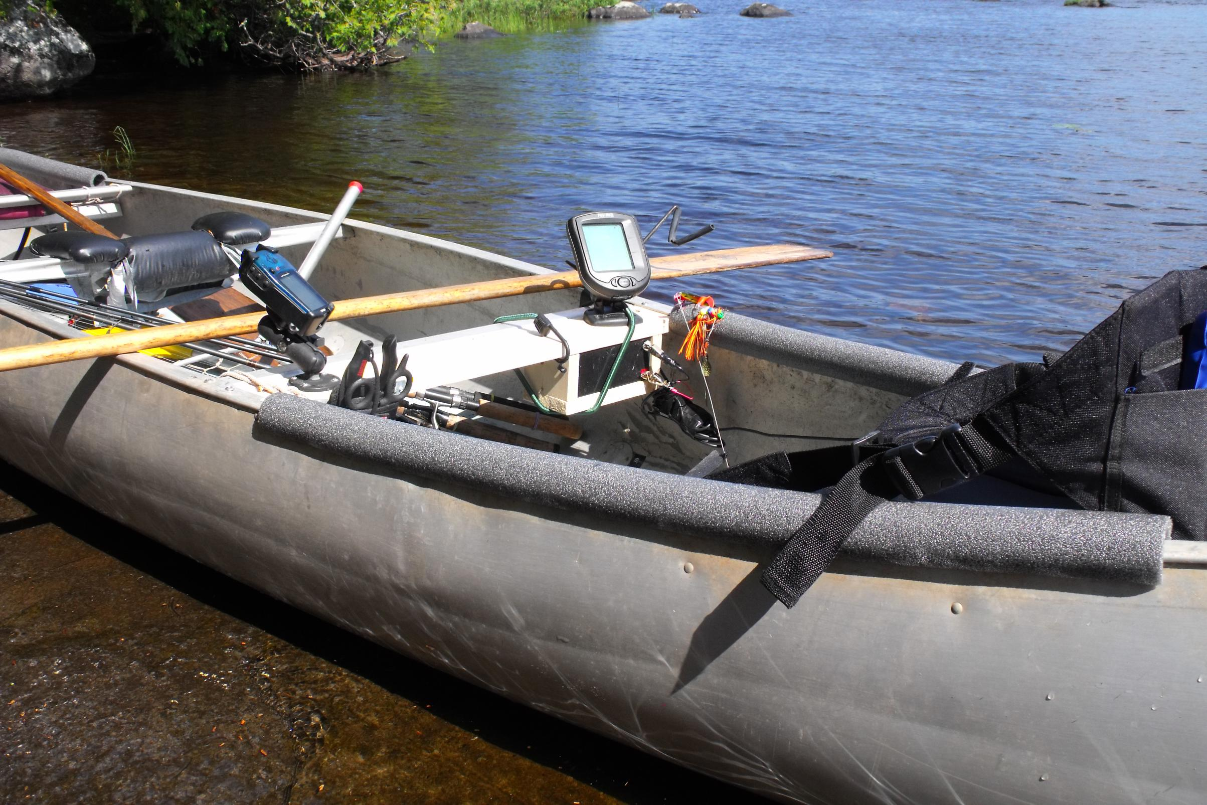 Bwca canoe add on 39 s for fishing boundary waters fishing for Fishing from a canoe