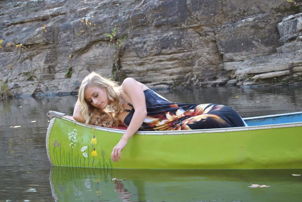 Emmy in Green Canoe