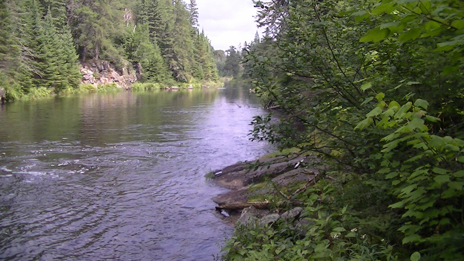 Kawishiwi River NE end of Malberg