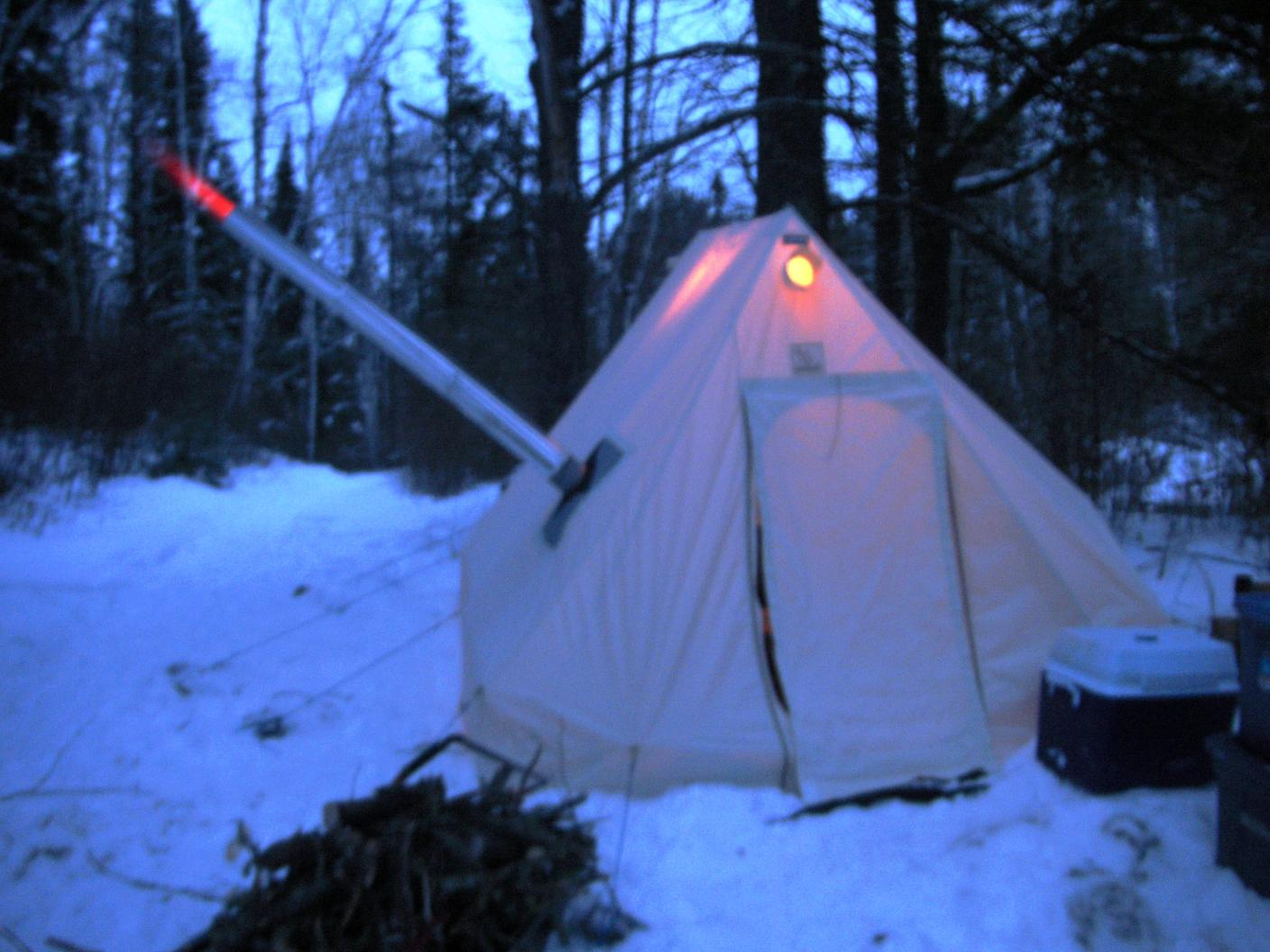 & BWCA Hot Tent Floor Boundary Waters Winter Camping and Activities