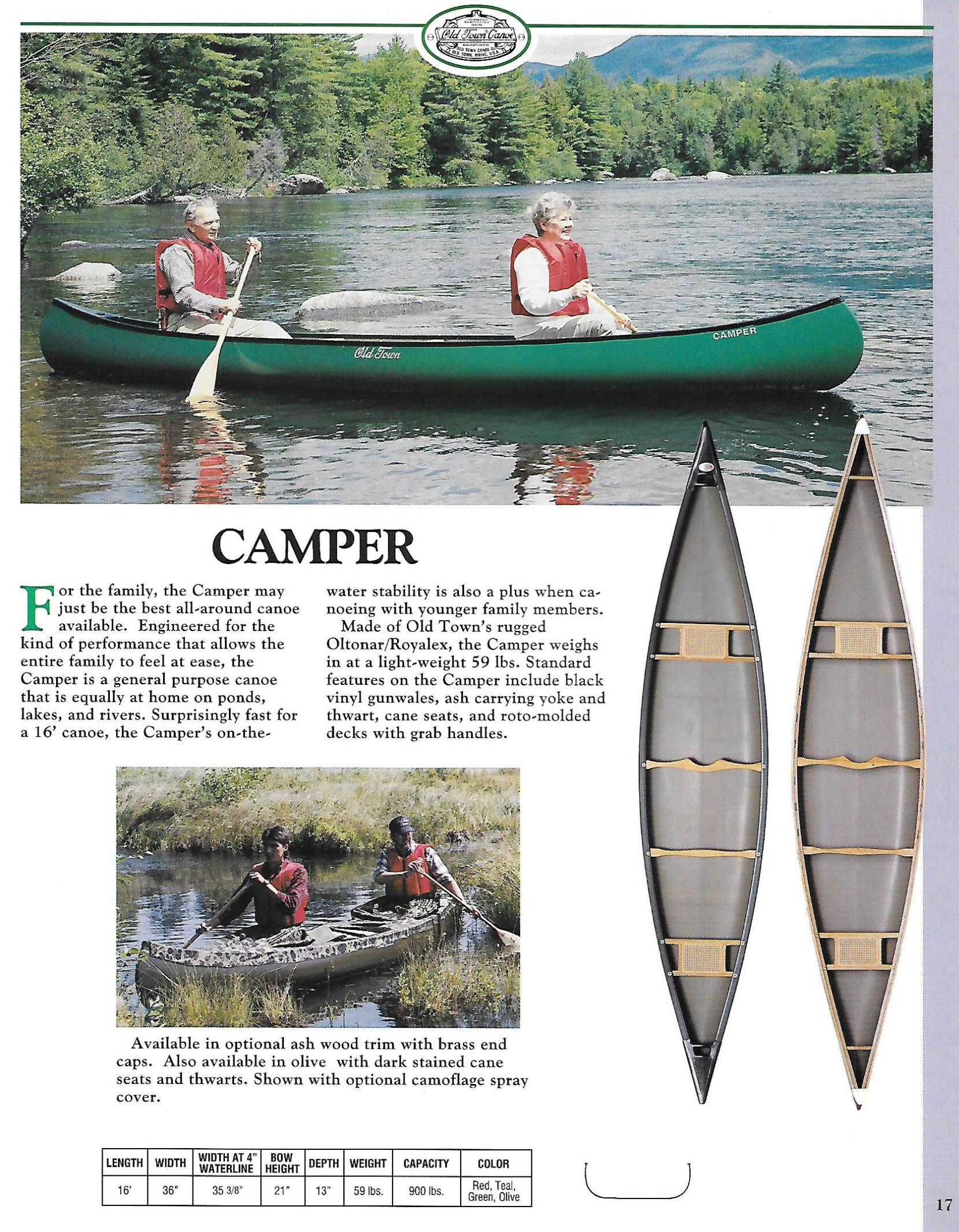 Old Town Camper-1994 Catalog page