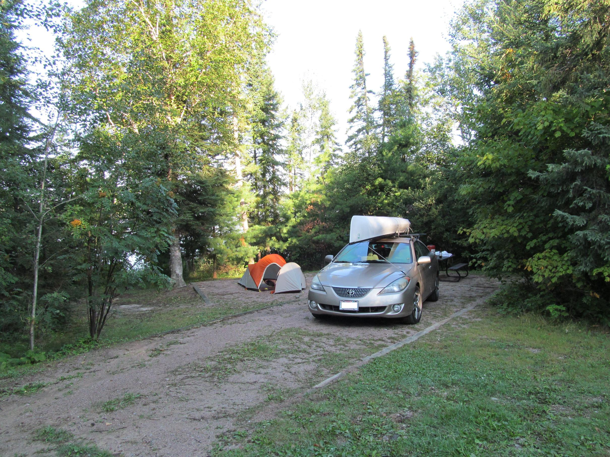 Campsite @ Dawson Trail before Morning Launch @ Nym Lake