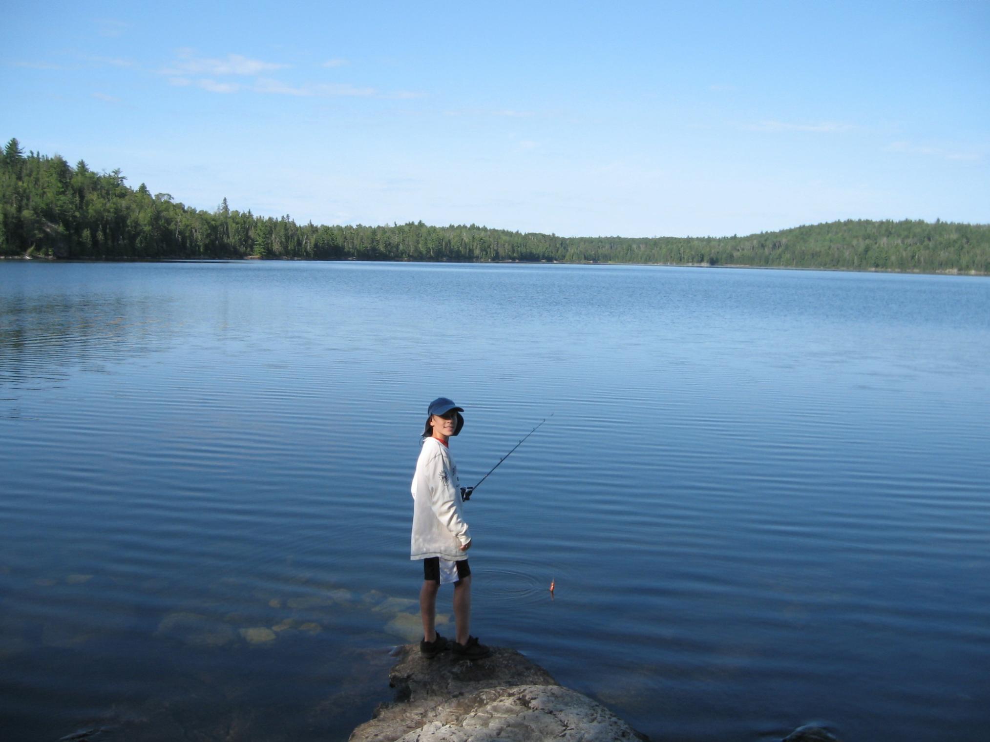 Sean casting off shore