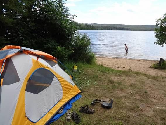 Clove Lake campsite