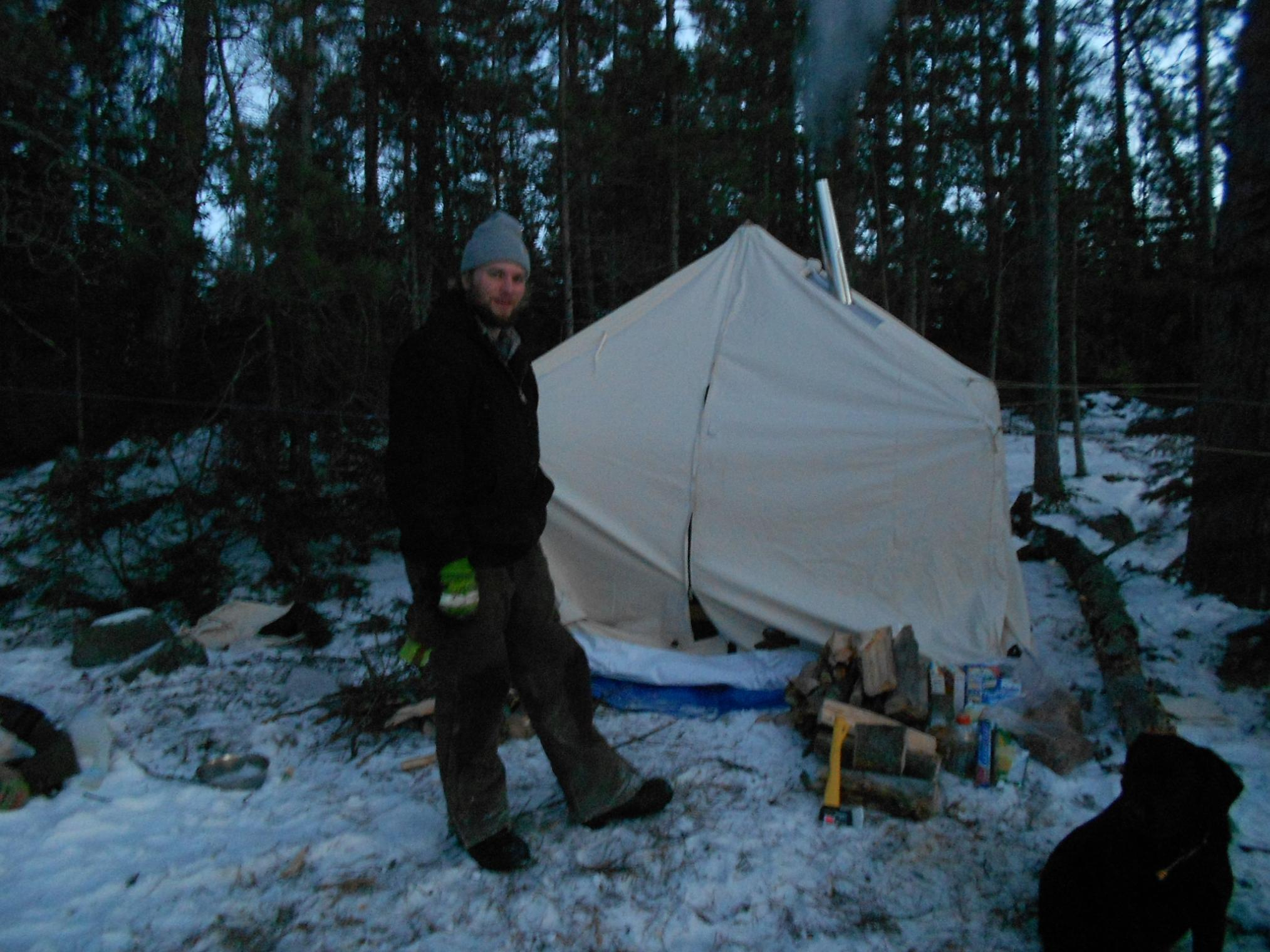 I use the kni co Alaskan stove in my 8x8 mountain spike tent. Itu0027s an ideal set up for two people but could get three if necessary. & BWCA Show me your wood burning stoves! Boundary Waters Winter ...