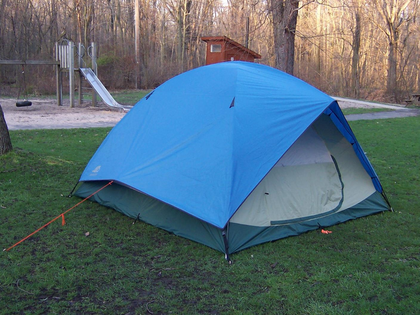 Here are some pics of my Alps Moutaineering Taurus Outfitter 5-person (tan) and my Alps Mountaineering Meramac 6-person (blue) & BWCA Alps Mountaineering Tent Boundary Waters Gear Forum