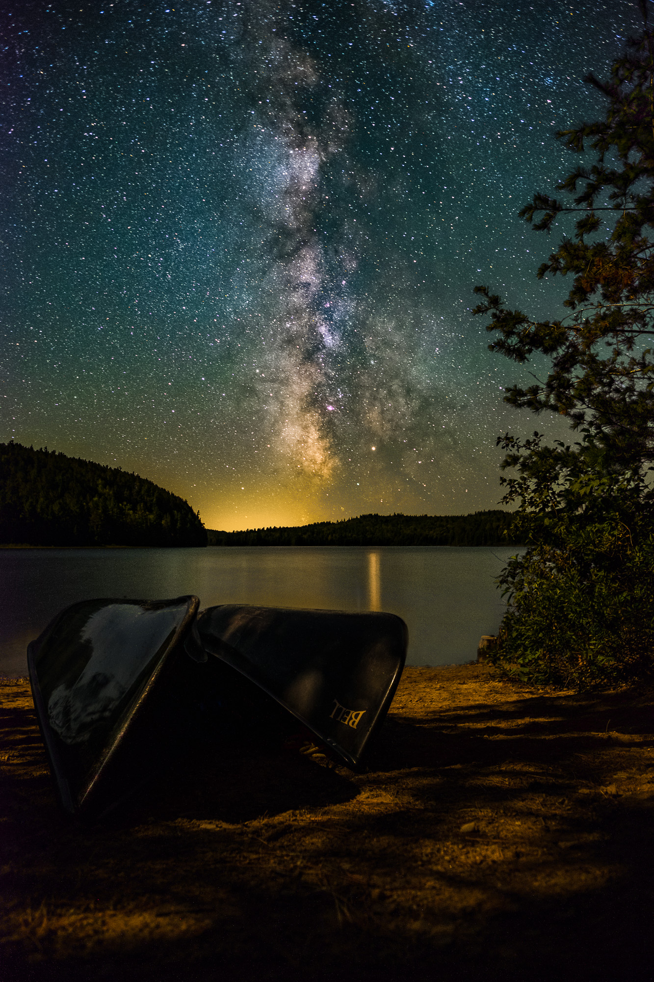 Canoes, Moonlight and the Milky Way