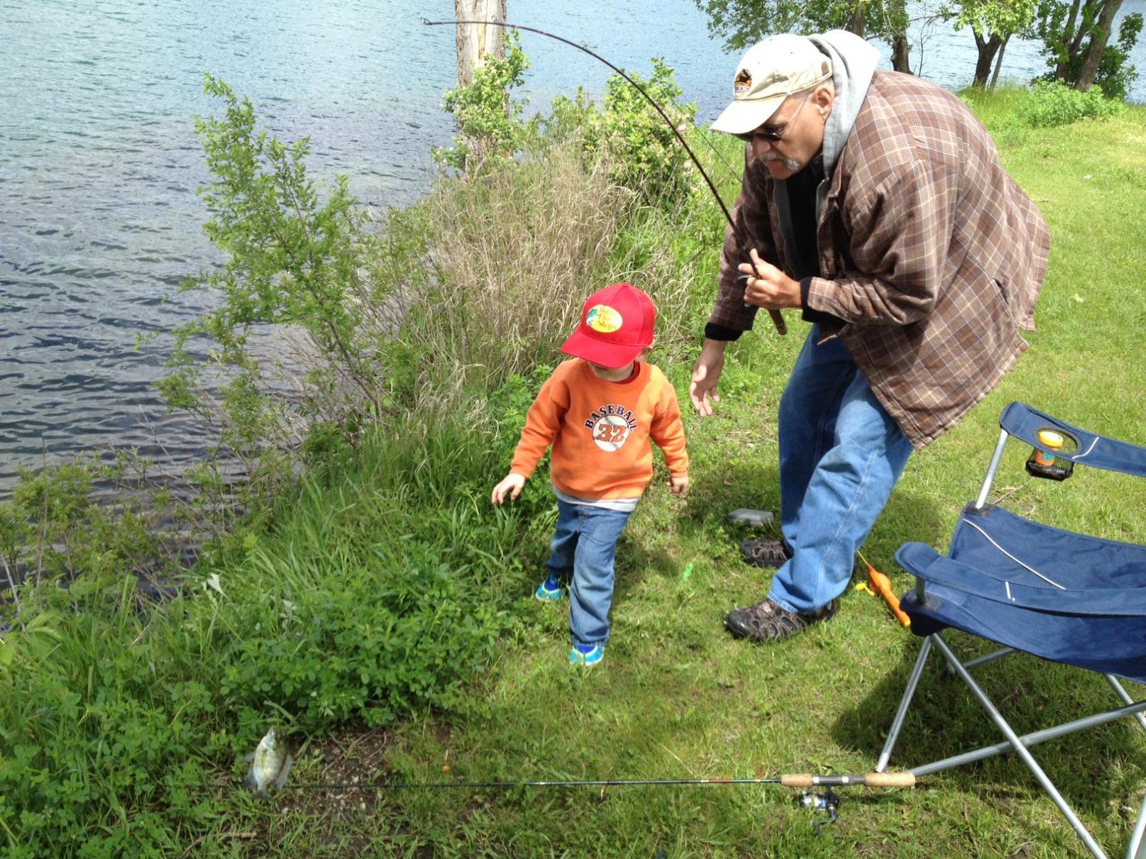 Noah & Grandpa 1st Fish