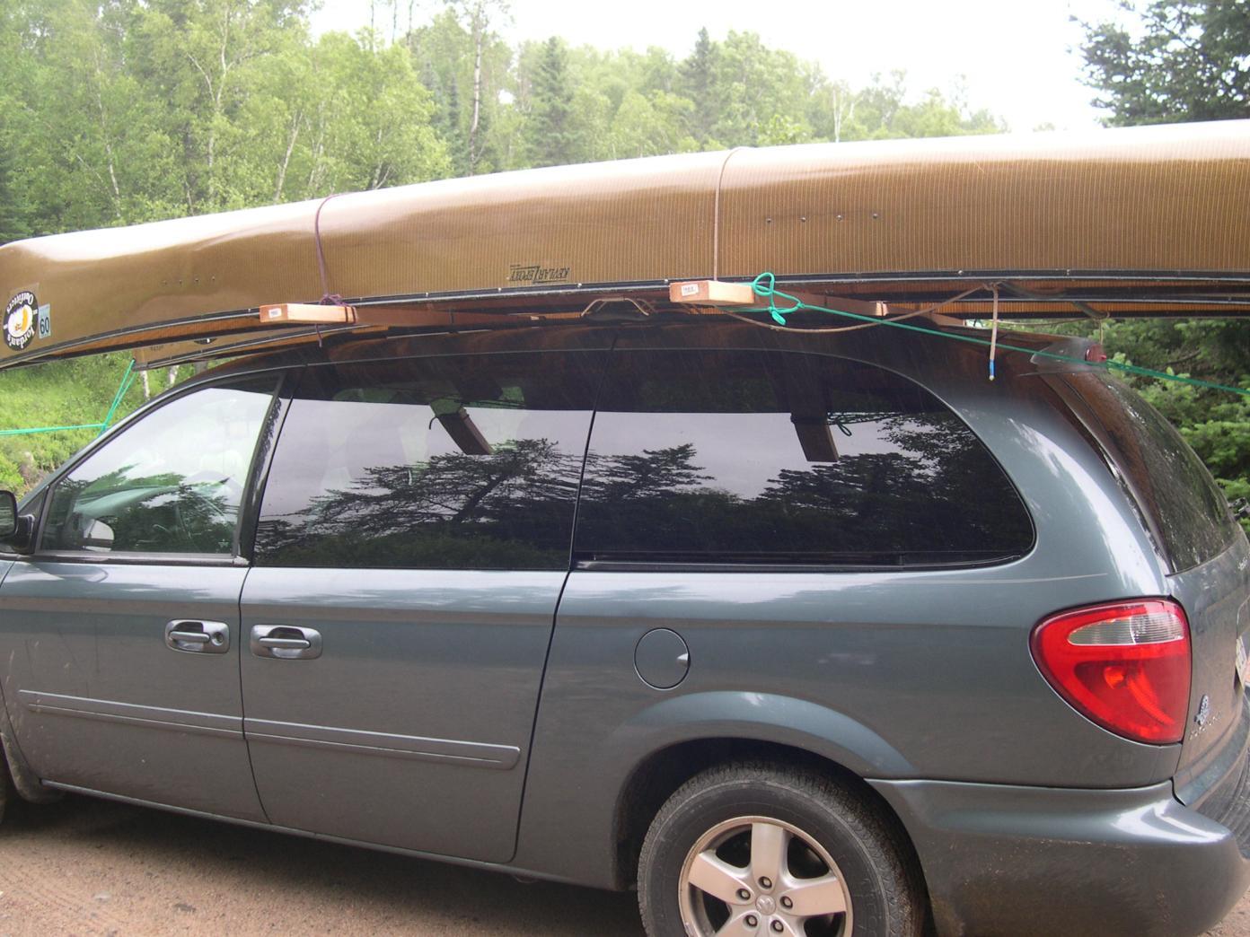 Bwca Carrying Canoe On Minivan Rack Boundary Waters Gear Forum