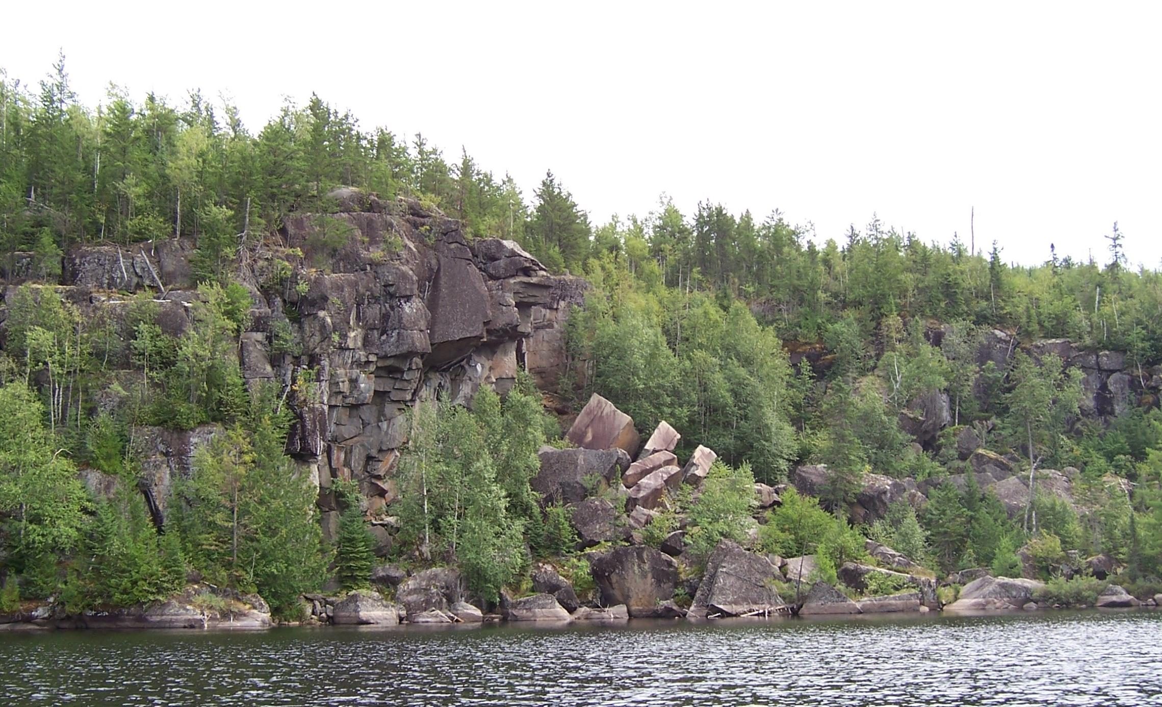 Wisini Lake Rock Face
