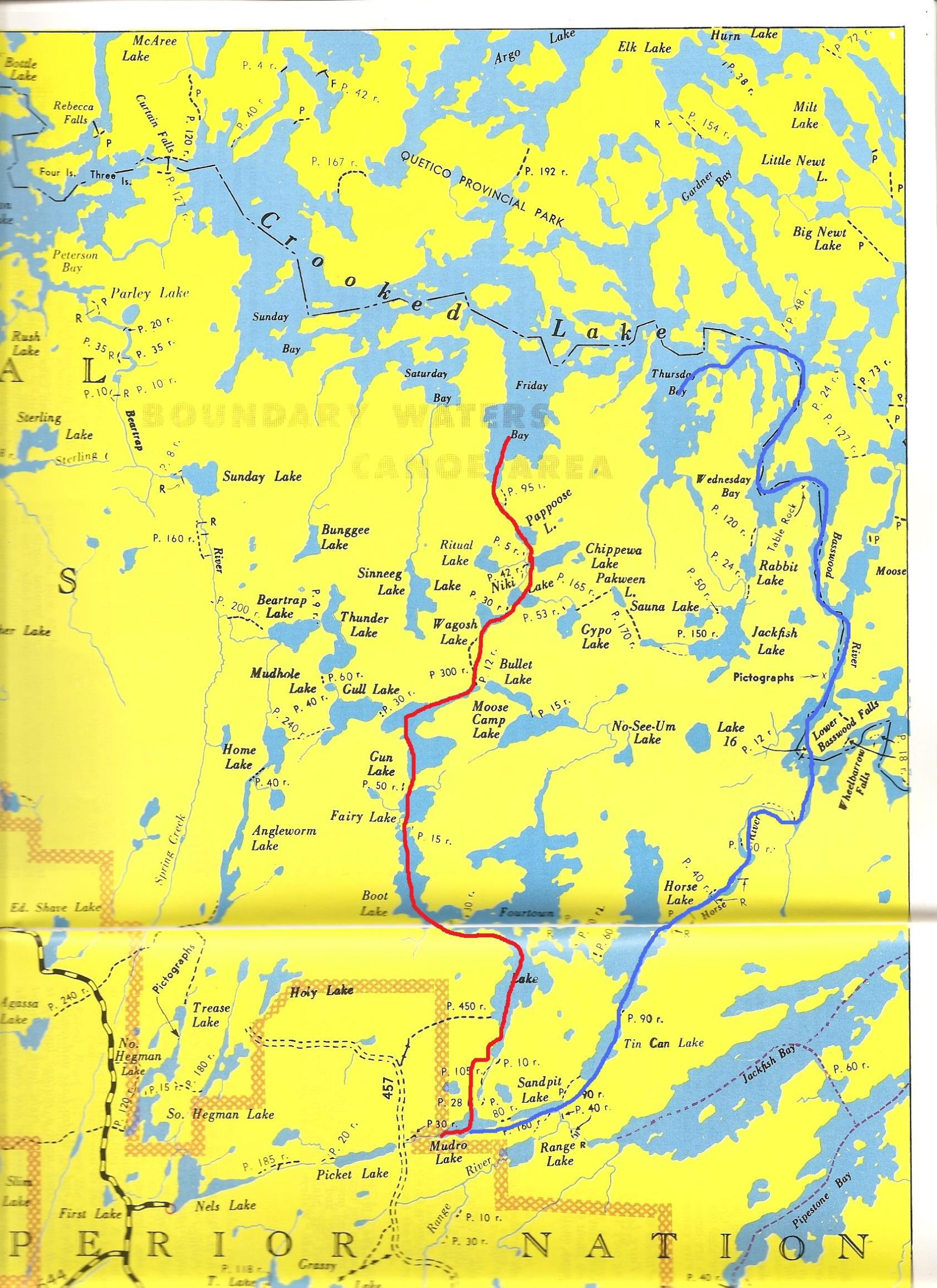Bwca The Way To Crooked Lake Boundary Waters Trip Planning