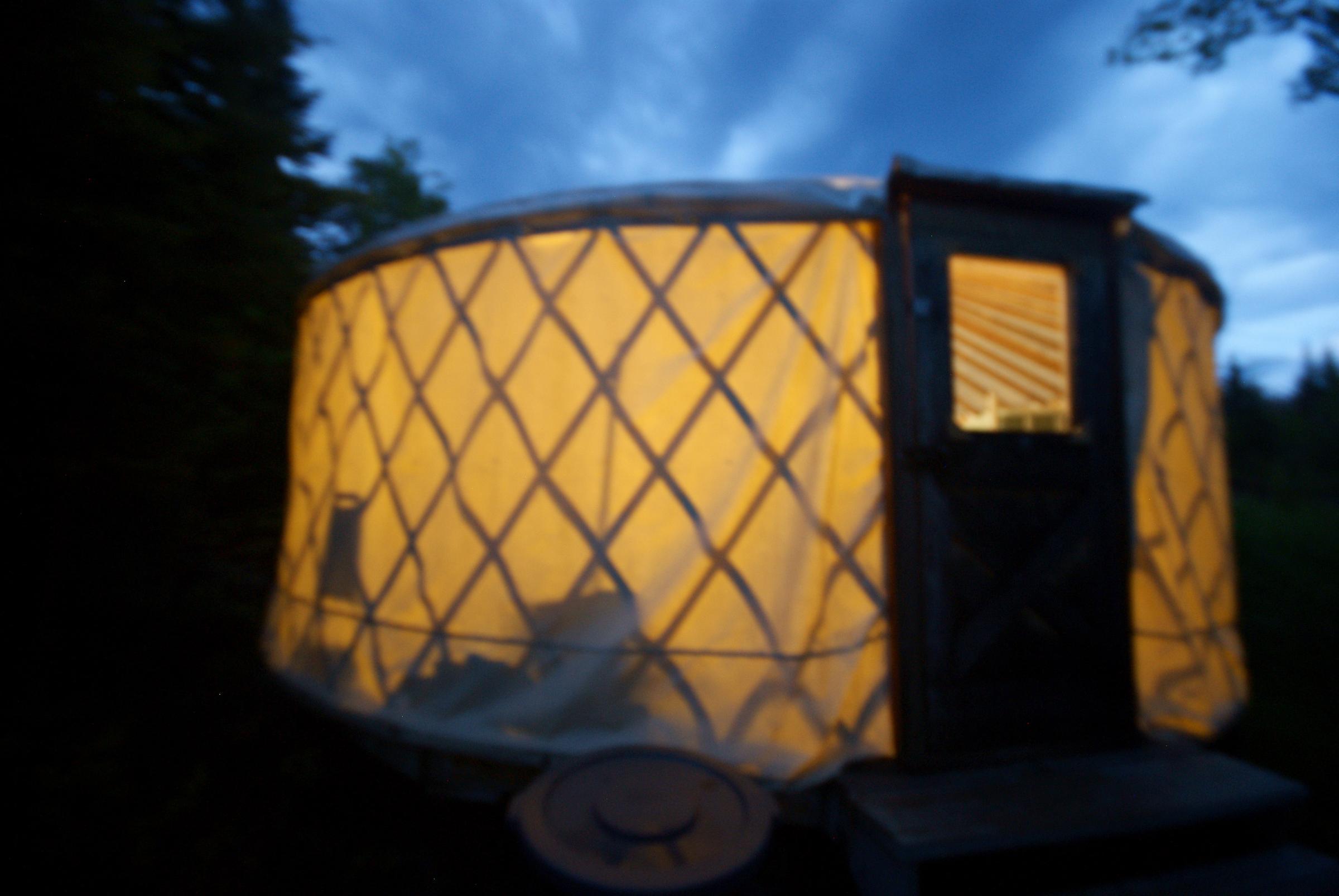 Latourell's yurt