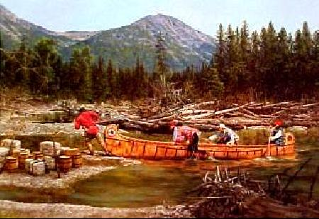 canoeing print
