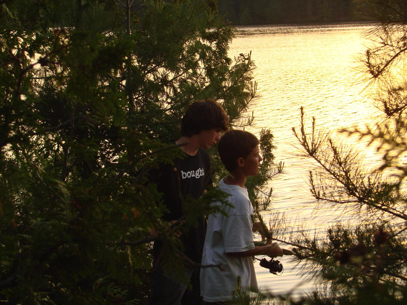 Sunset Fishing on Ester Lake