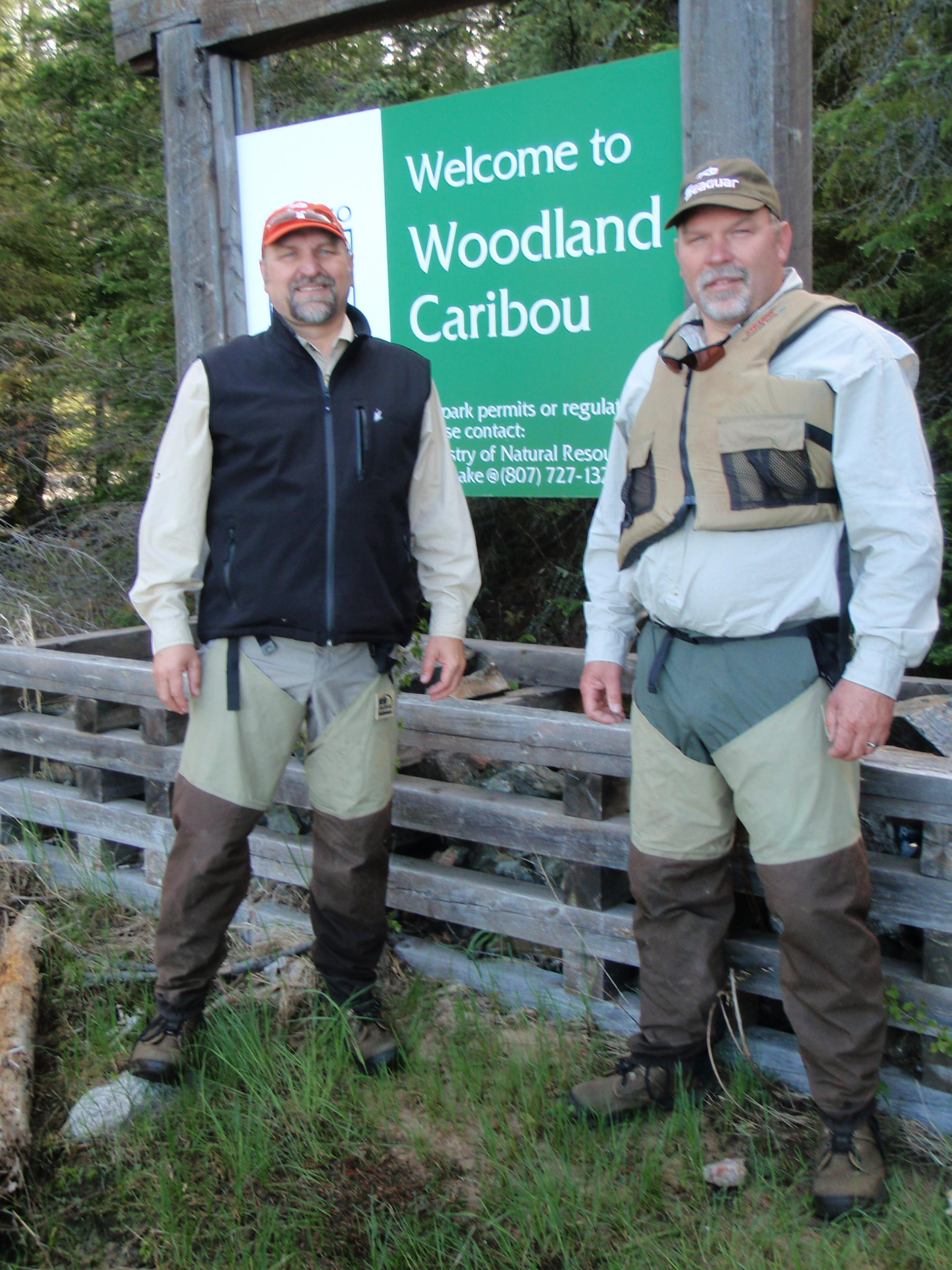 My brother and I at the Woodland entry point