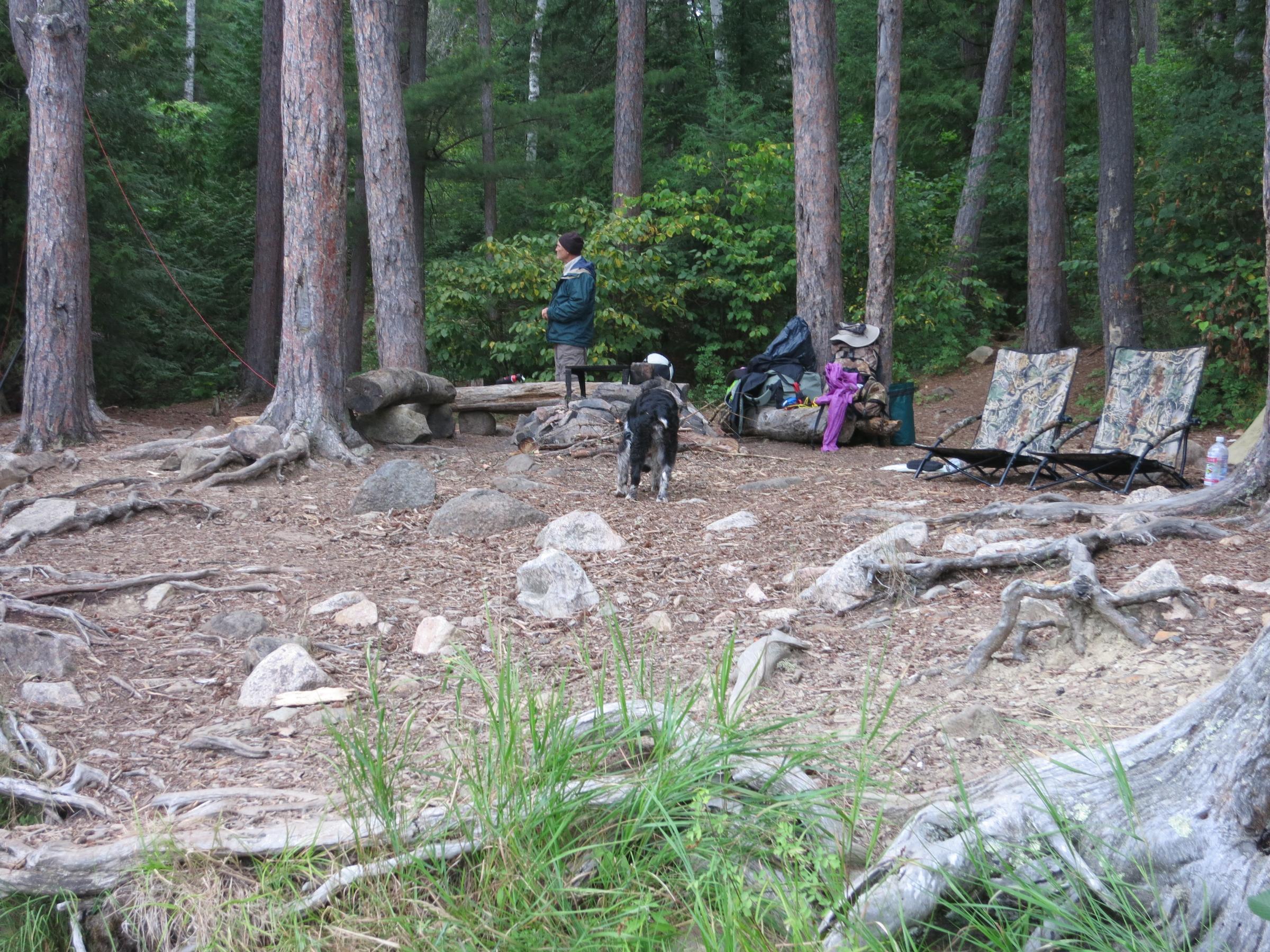 Campsite on Canoe