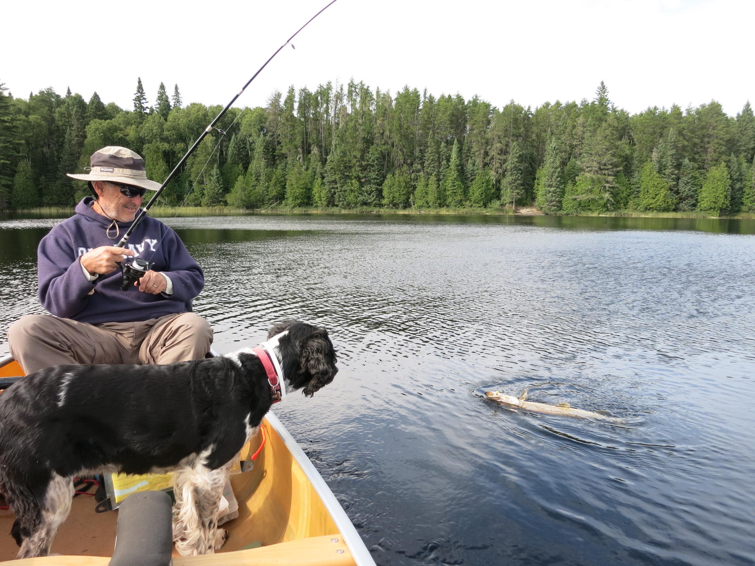 fishing on Long Island Lake