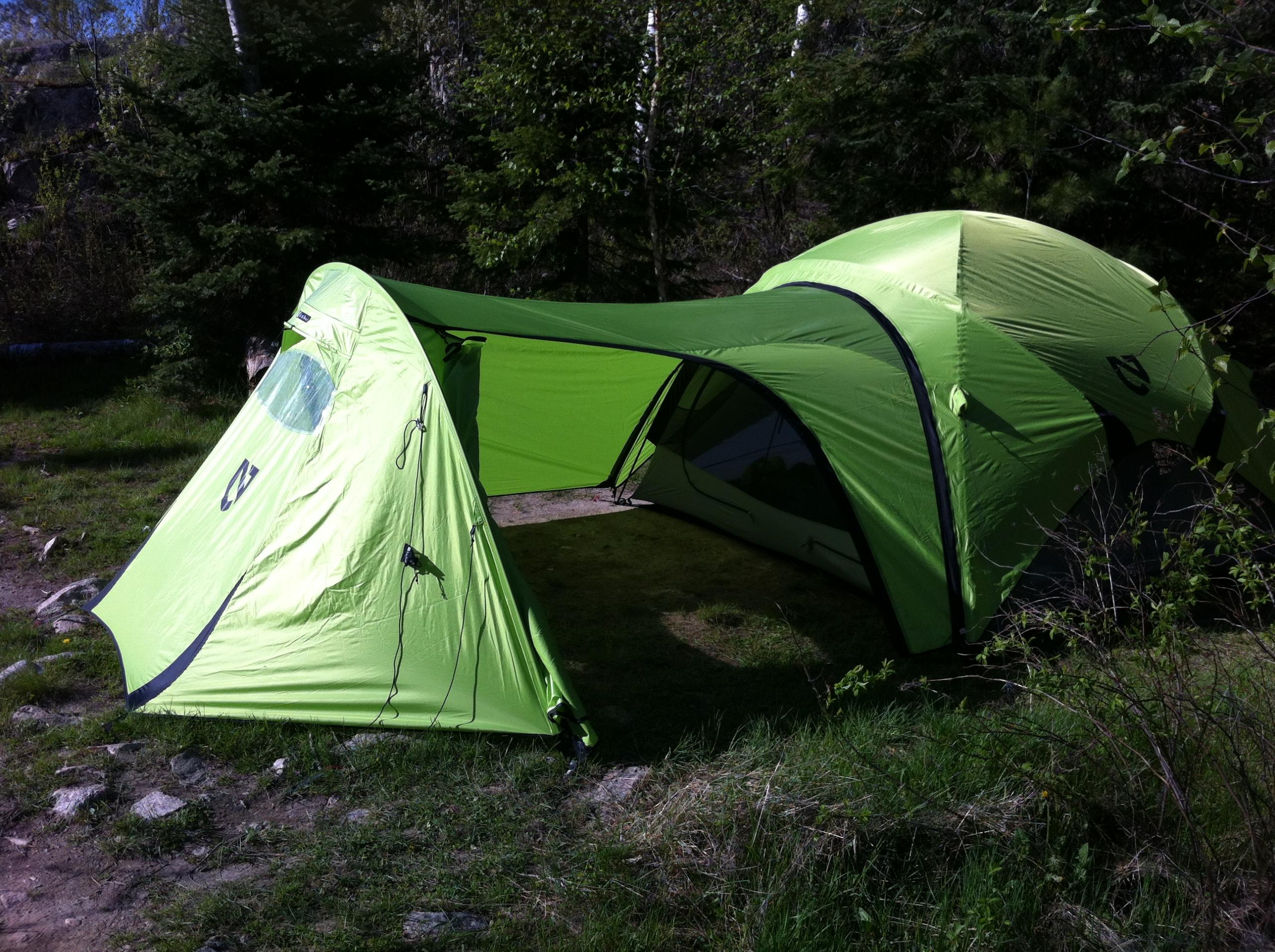 ... knowing there were sitesl arge enough I opted to bring the garage for the Asashi VERY cool loved it really felt like a castle. & BWCA New Green Tent u0026 Toys NEMO Boundary Waters Gear Forum