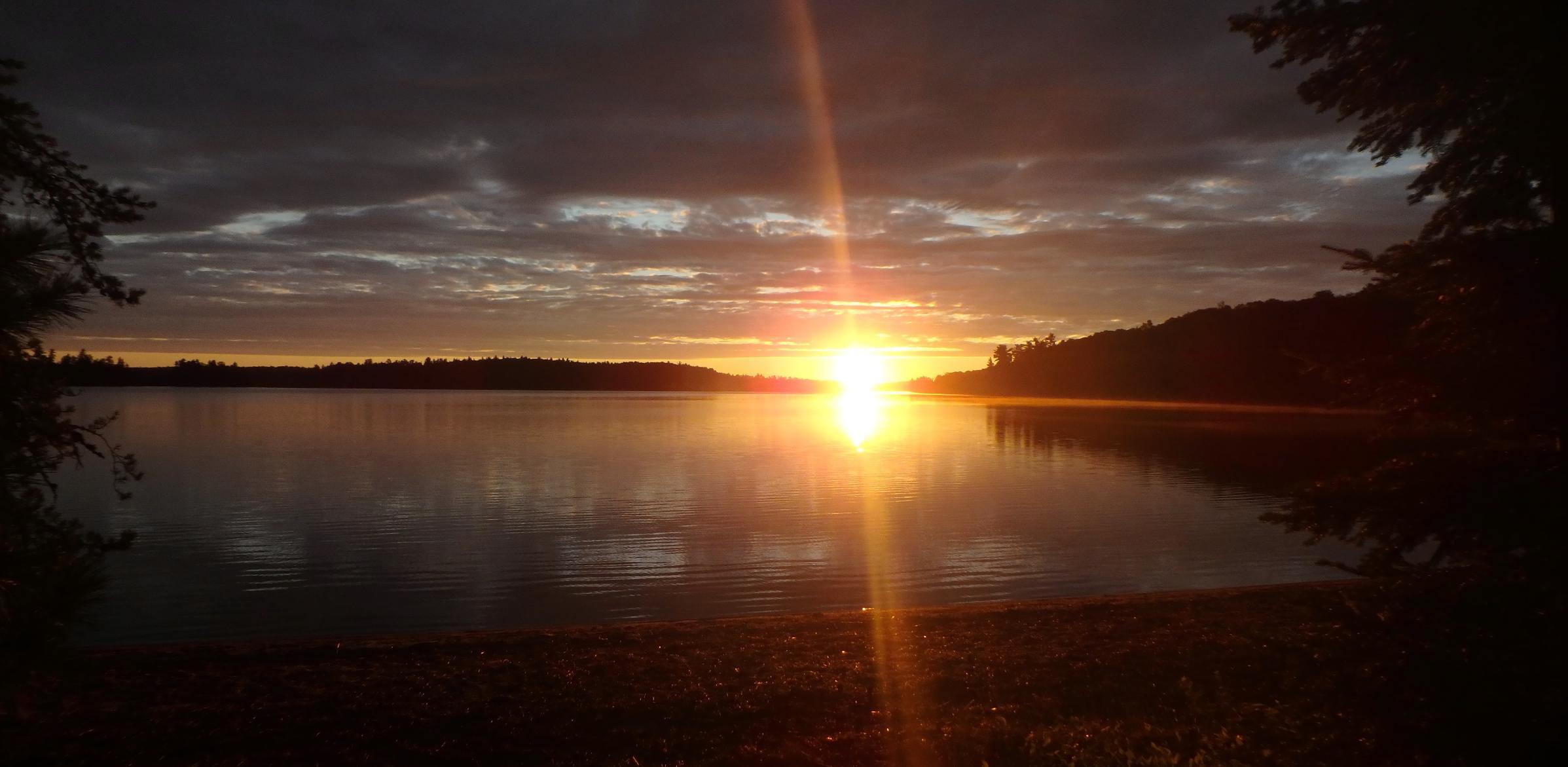 Sunrise over Quetico