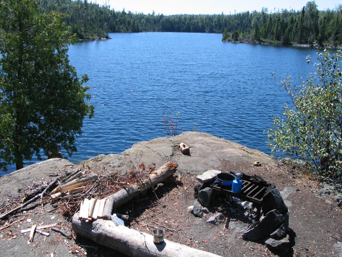 Island campsite - Paulson Lake