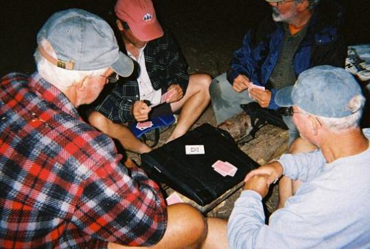 Euchre After Midnight - Boundary Waters - 2004 - photo by Bob Young