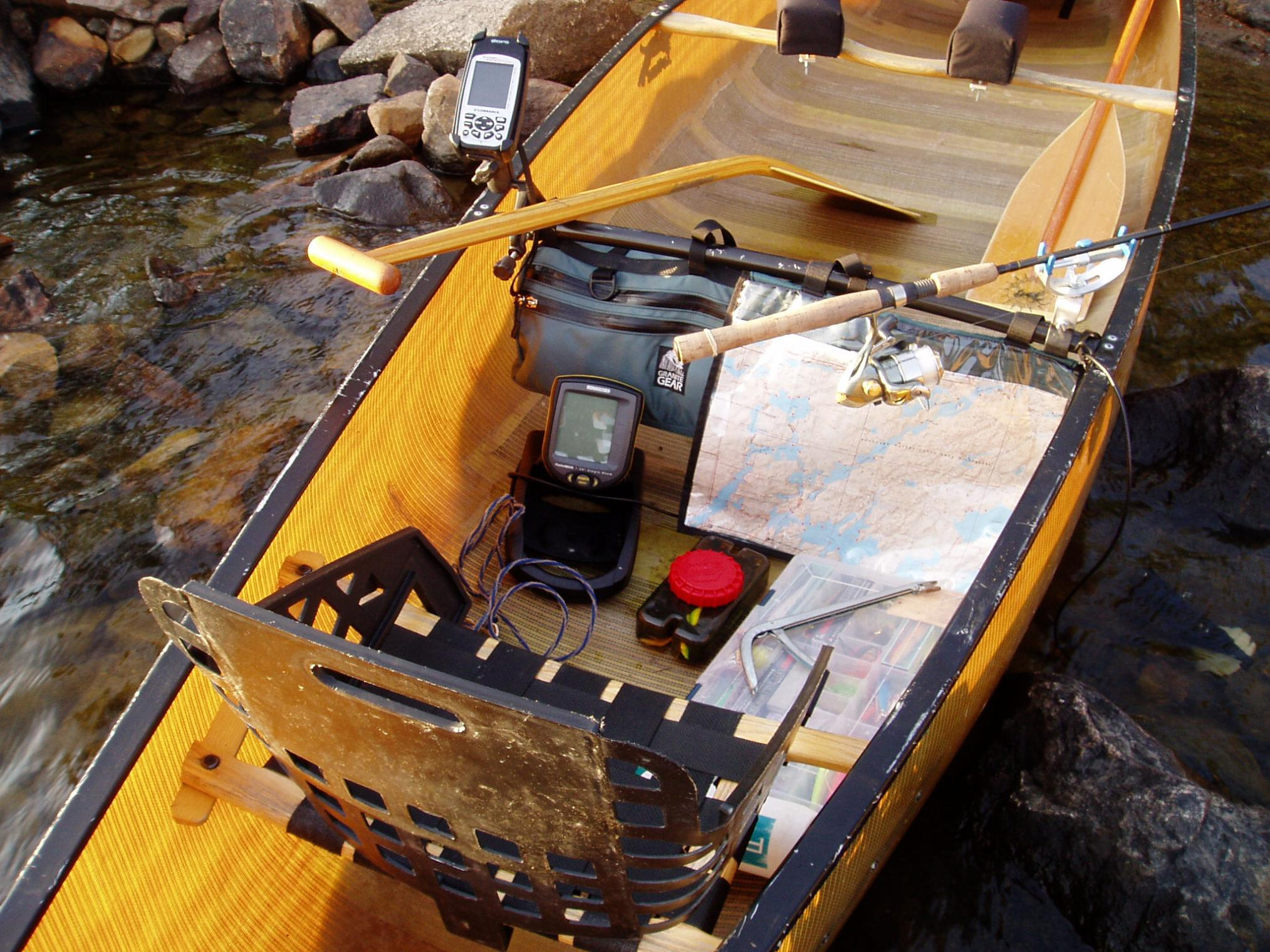 bwca let's see a pic of your canoe fishing machine boundary waters, Fish Finder