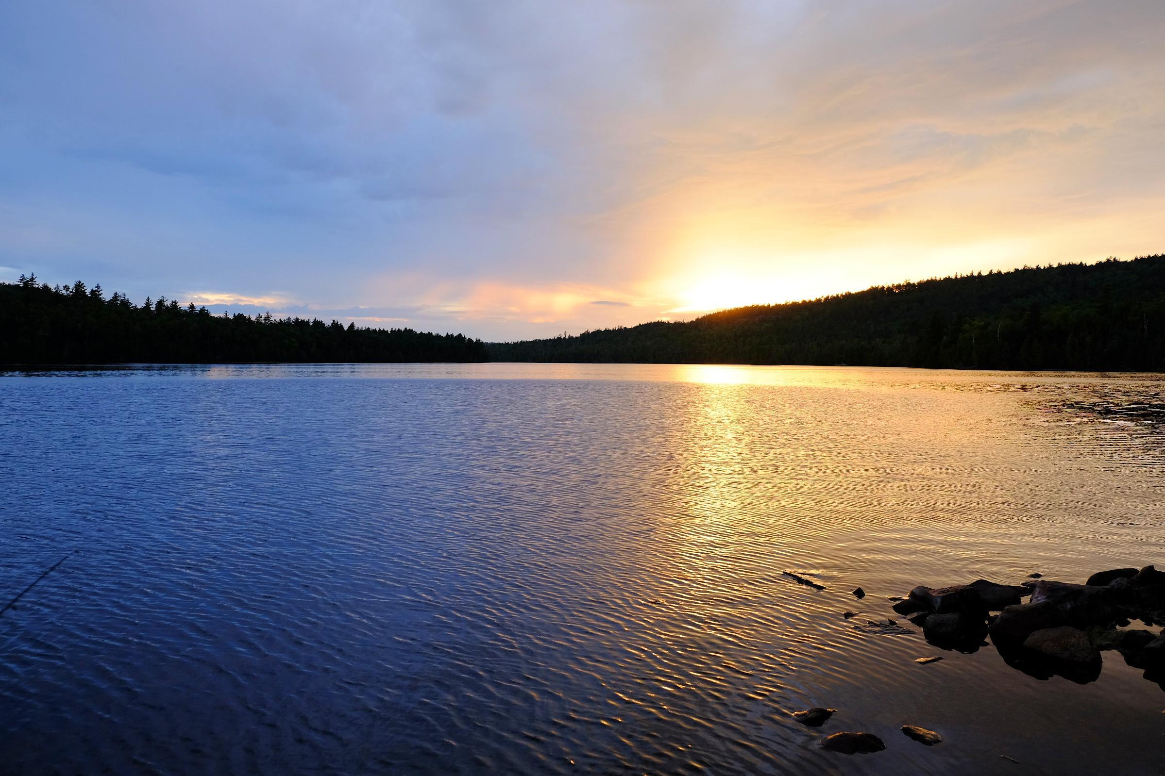 Sunset Caribou Lake Sept 4, 2016