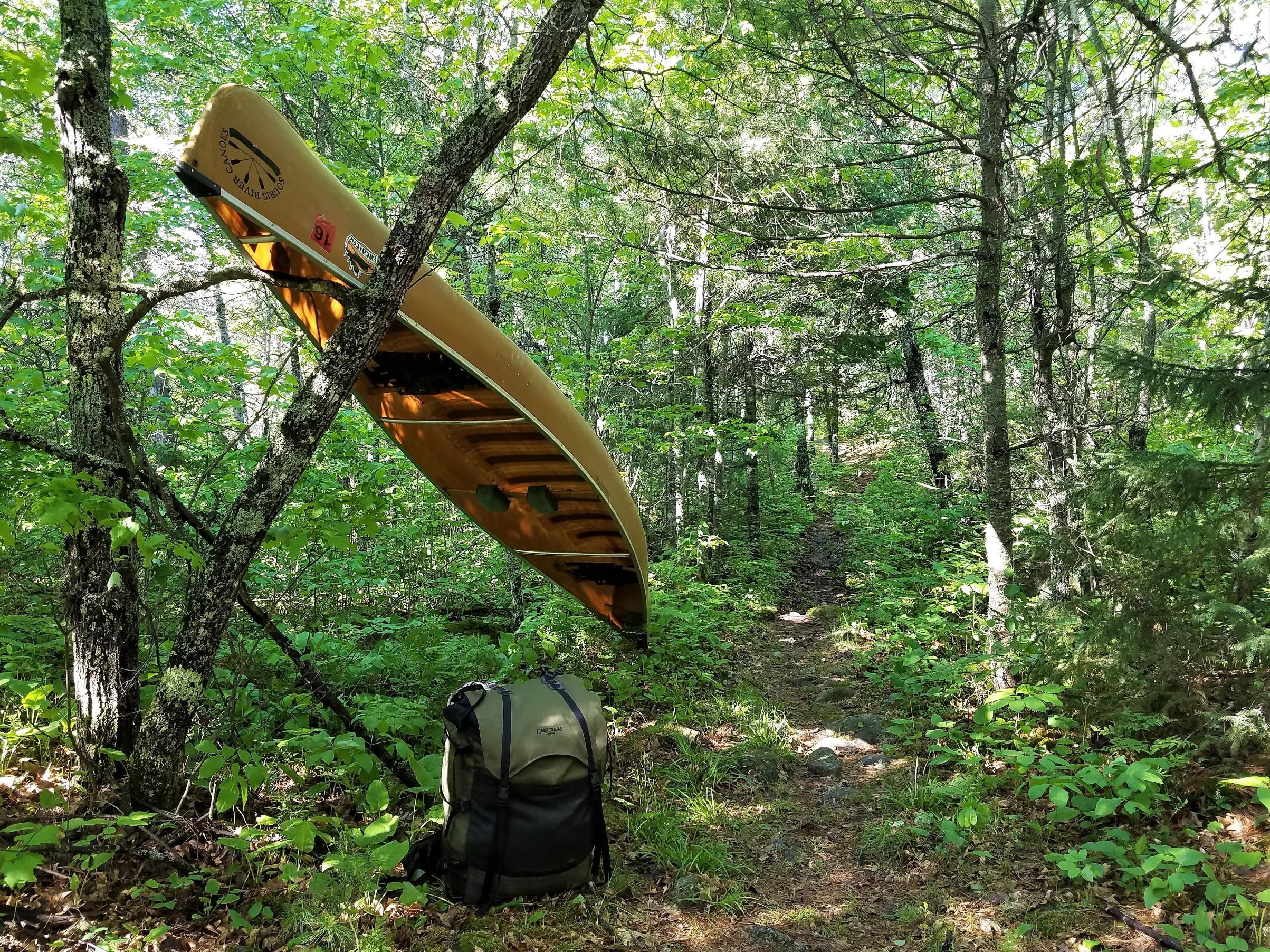 A.Canoe rest along 270-rod Trout/Pine portage