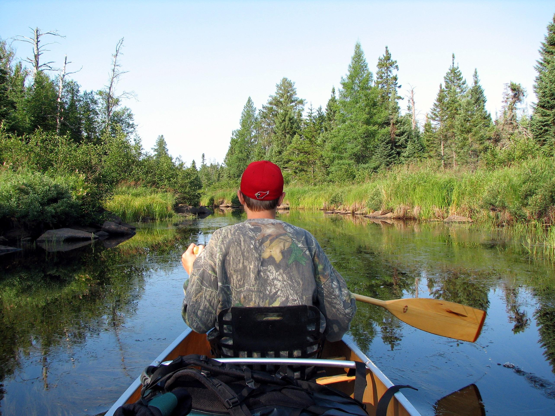 B. Paddling down Hog Creek