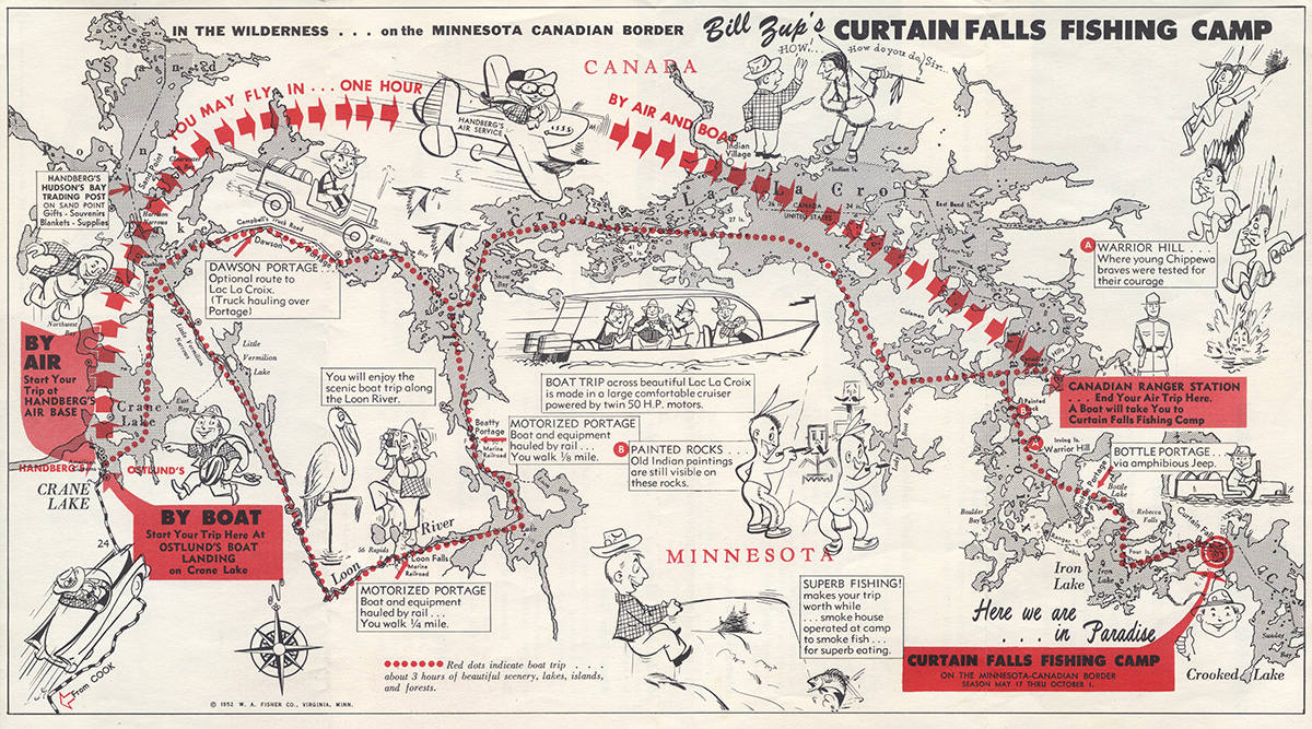 Zup's map 1952