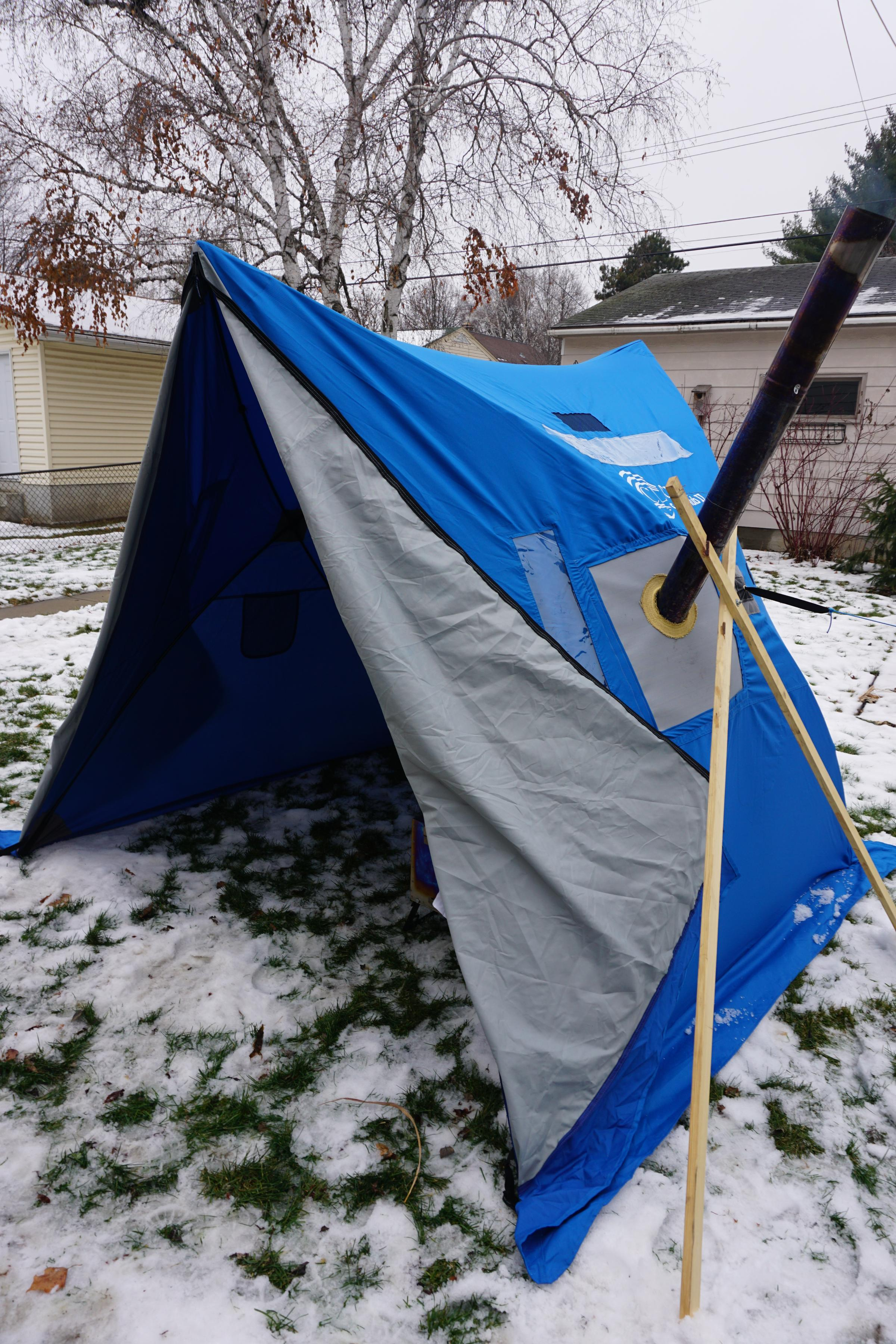 Text & BWCA My new hot tent - modified hub shelter Boundary Waters Winter ...