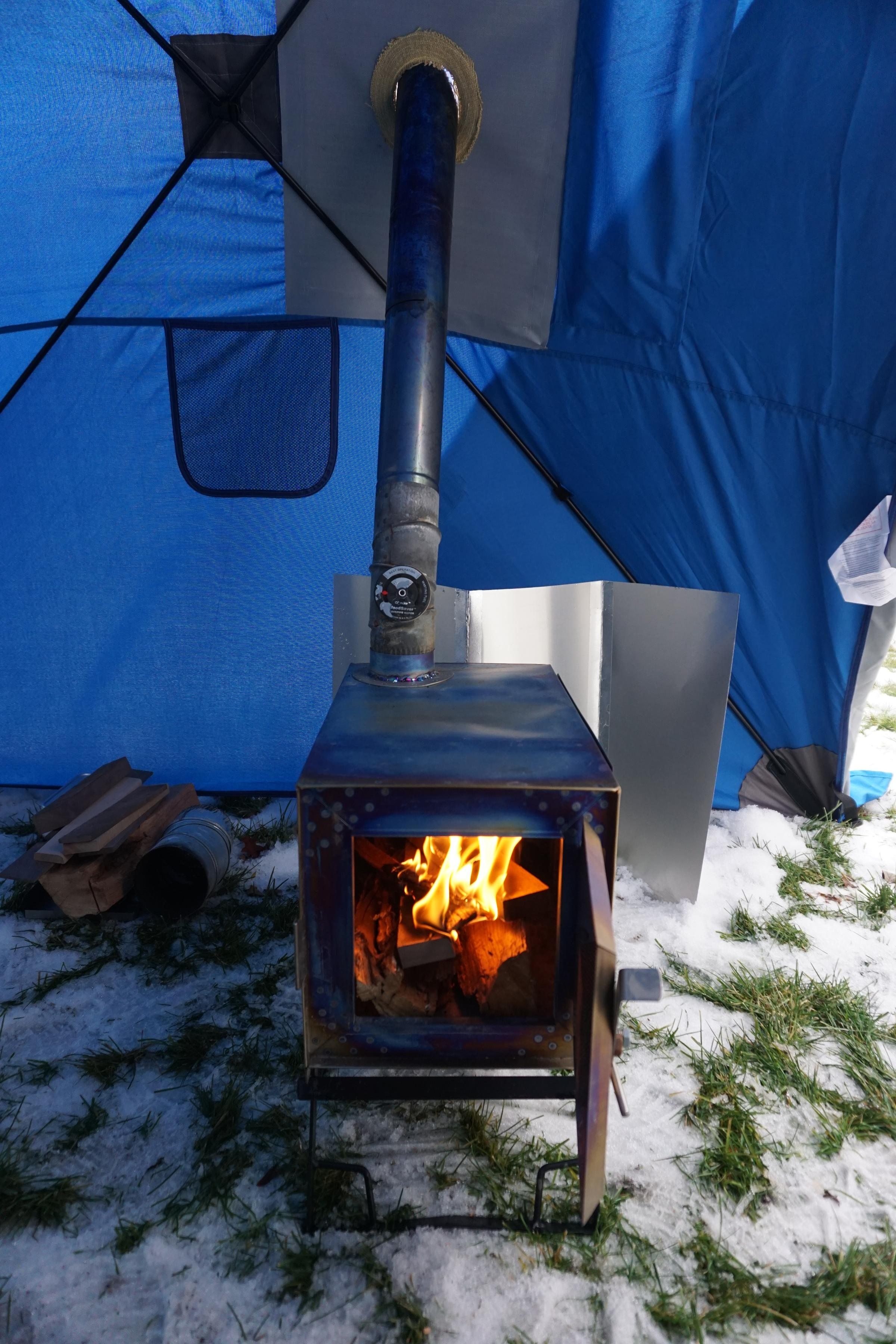 tg & BWCA My new hot tent - modified hub shelter Boundary Waters Winter ...