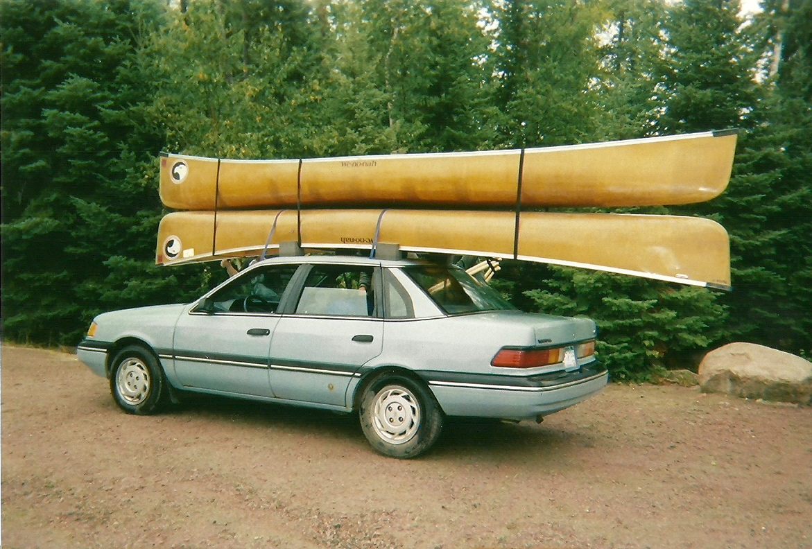 Bwca Whats Your Tie Down Method For Two Canoes Boundary Waters