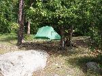 Photo of tent and campsite