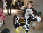 For some reason he loved this cow... he wanted to bring her home!